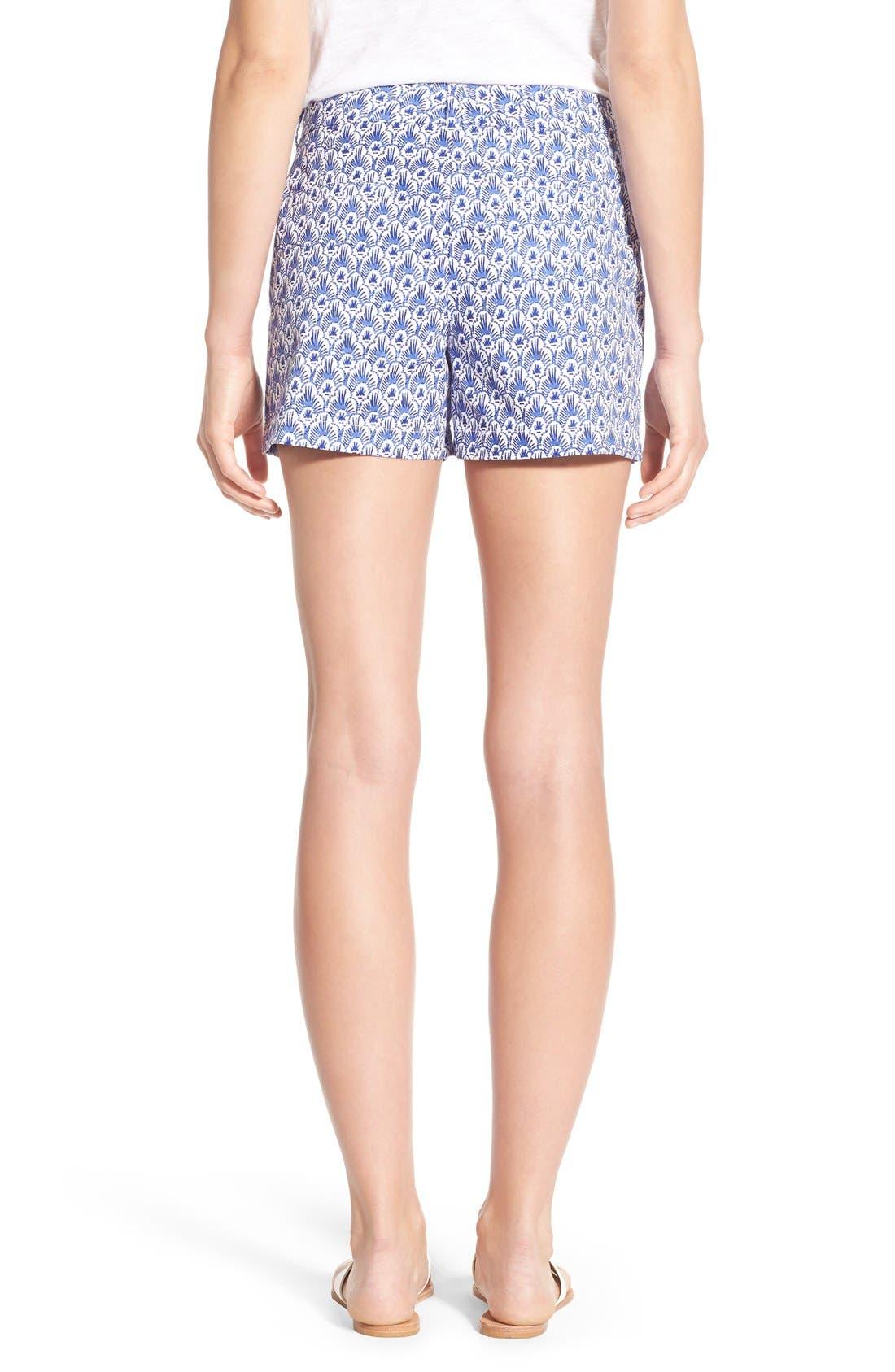 Alternate Image 2  - Vineyard Vines Feather Print Stretch Cotton Shorts