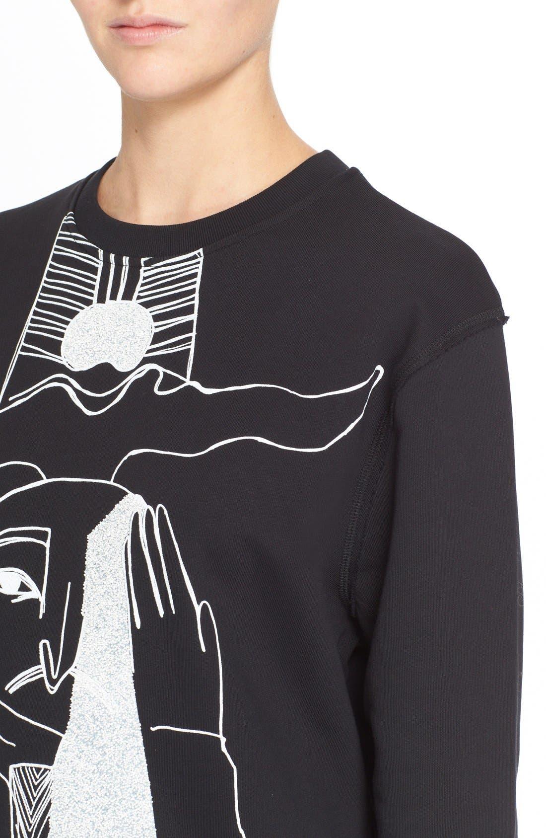Alternate Image 4  - McQ by Alexander McQueen Oversized Graphic Sweatshirt