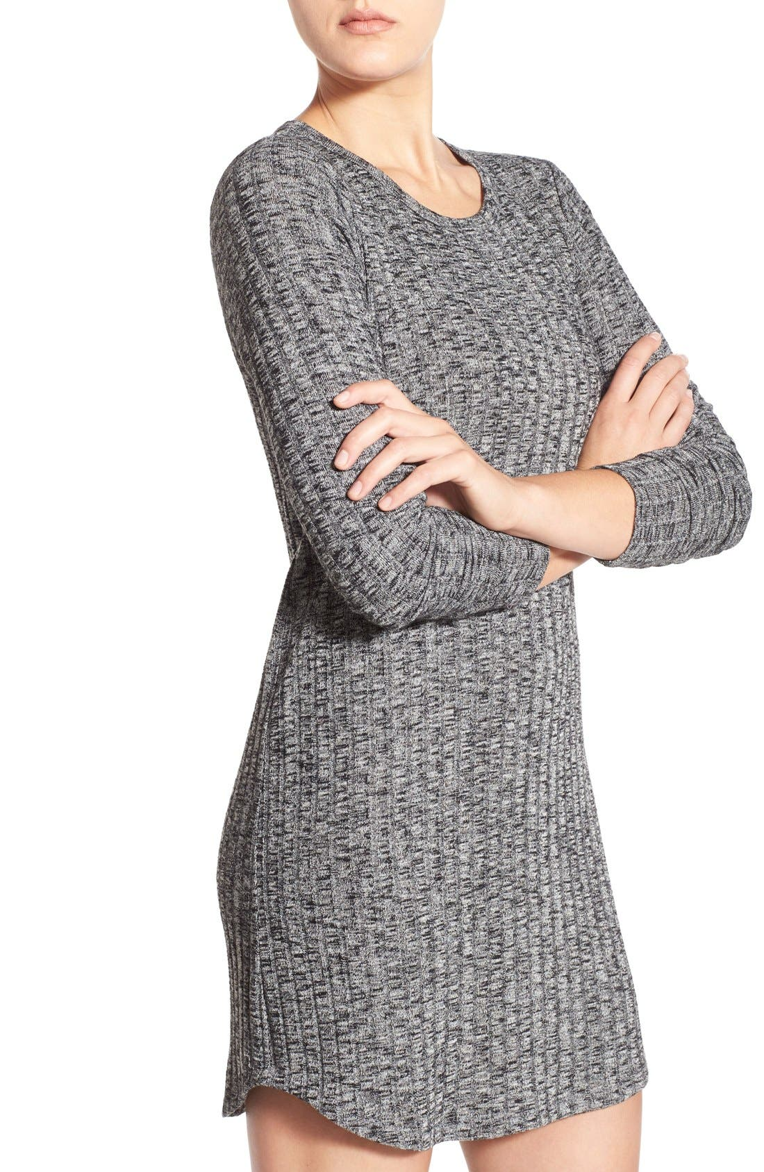 Alternate Image 5  - Everly Ribbed Long Sleeve Sweater Dress