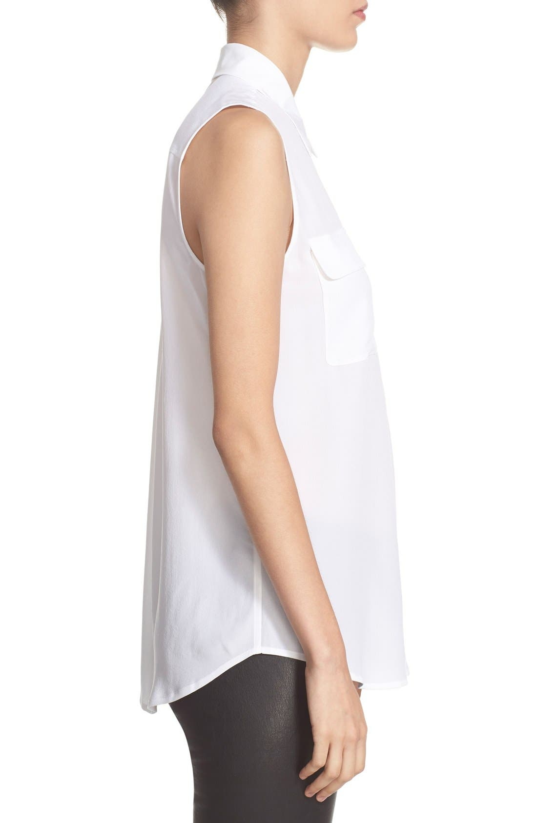 Alternate Image 5  - Equipment 'Slim Signature' Sleeveless Silk Shirt