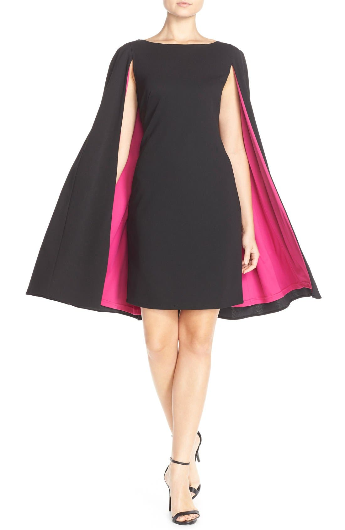 Alternate Image 5  - Adrianna Papell Cape Sheath Crepe Dress