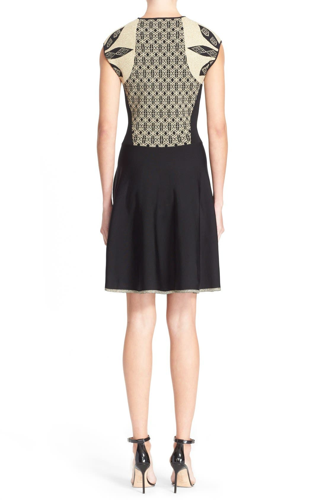 Alternate Image 2  - Ted Baker London 'Jenkin' Metallic Jacquard Fit & Flare Dress