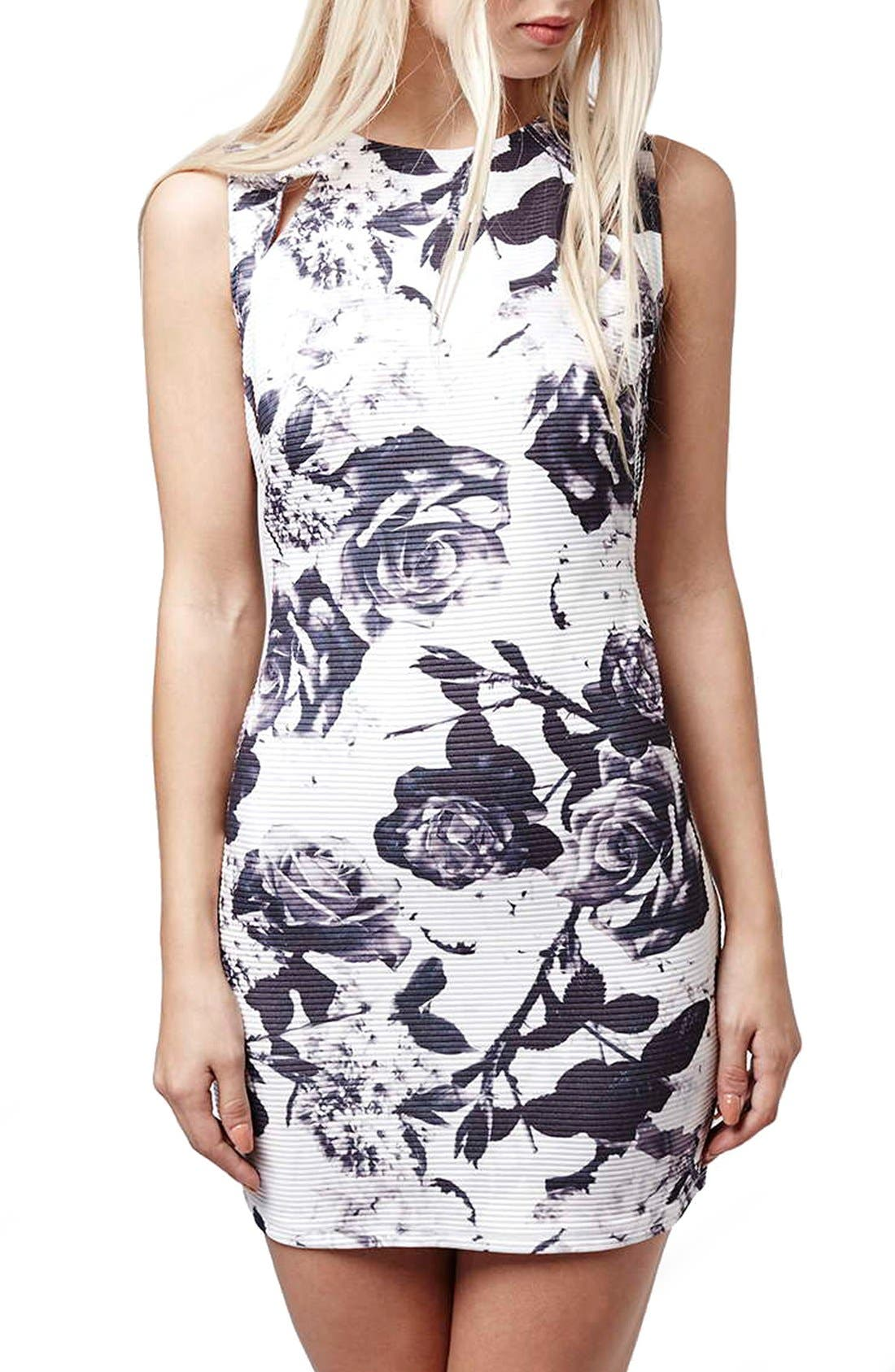 Alternate Image 1 Selected - Topshop Print Body-Con Dress (Petite)
