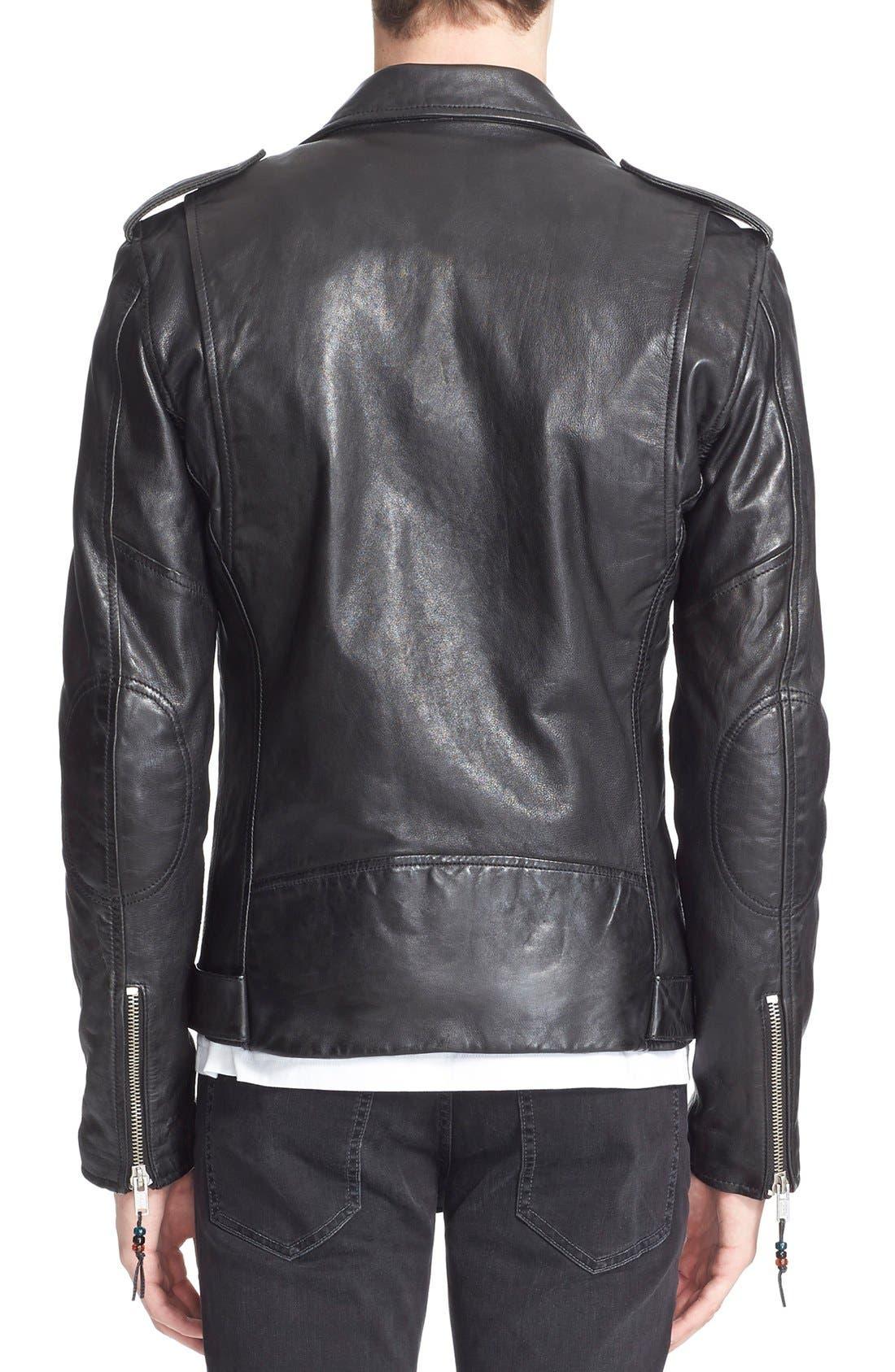 Alternate Image 4  - BLK DNM 'Leather Jacket 5' Leather Moto Jacket