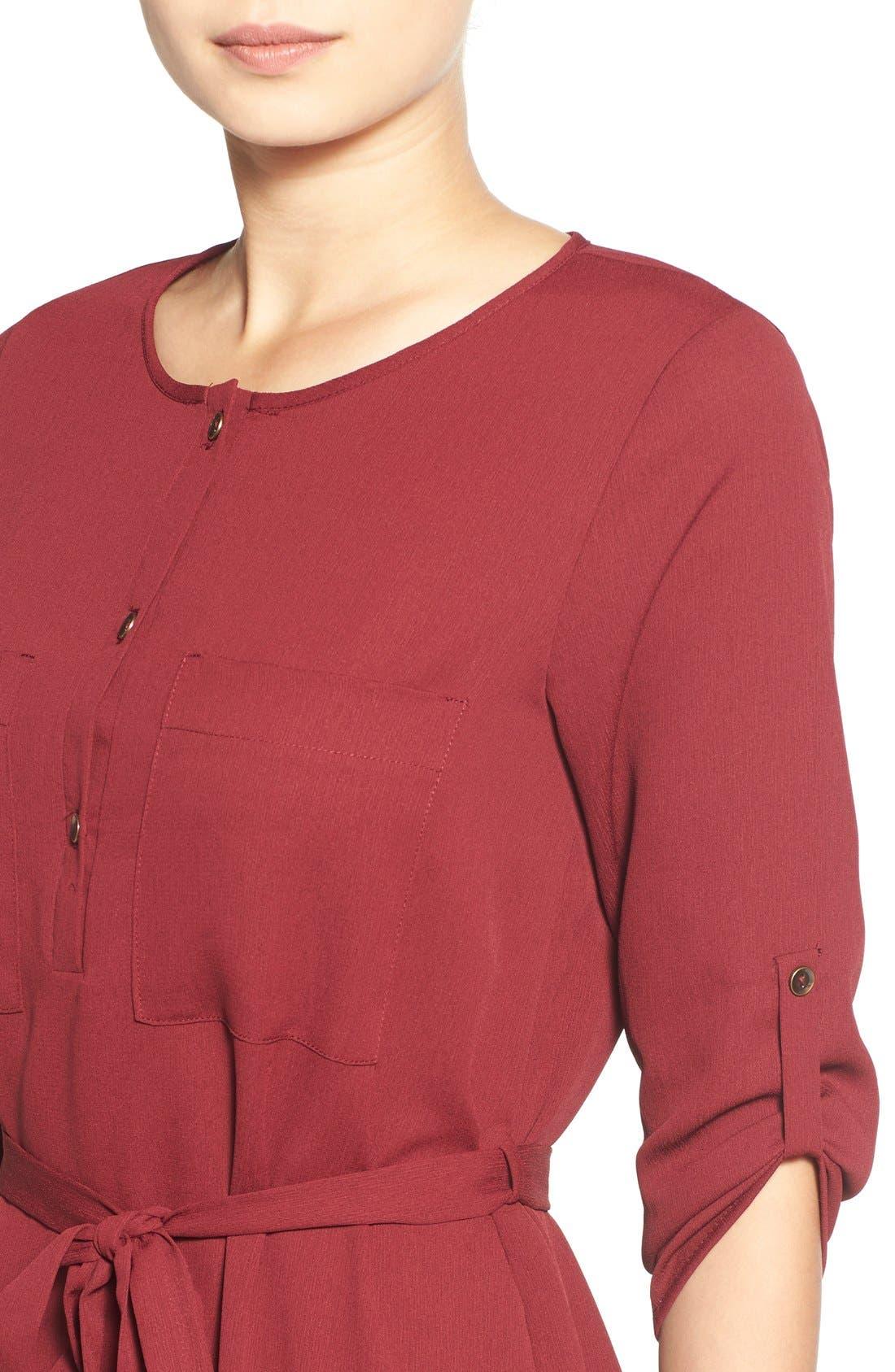 Alternate Image 4  - jella c. Henley Shirt Dress