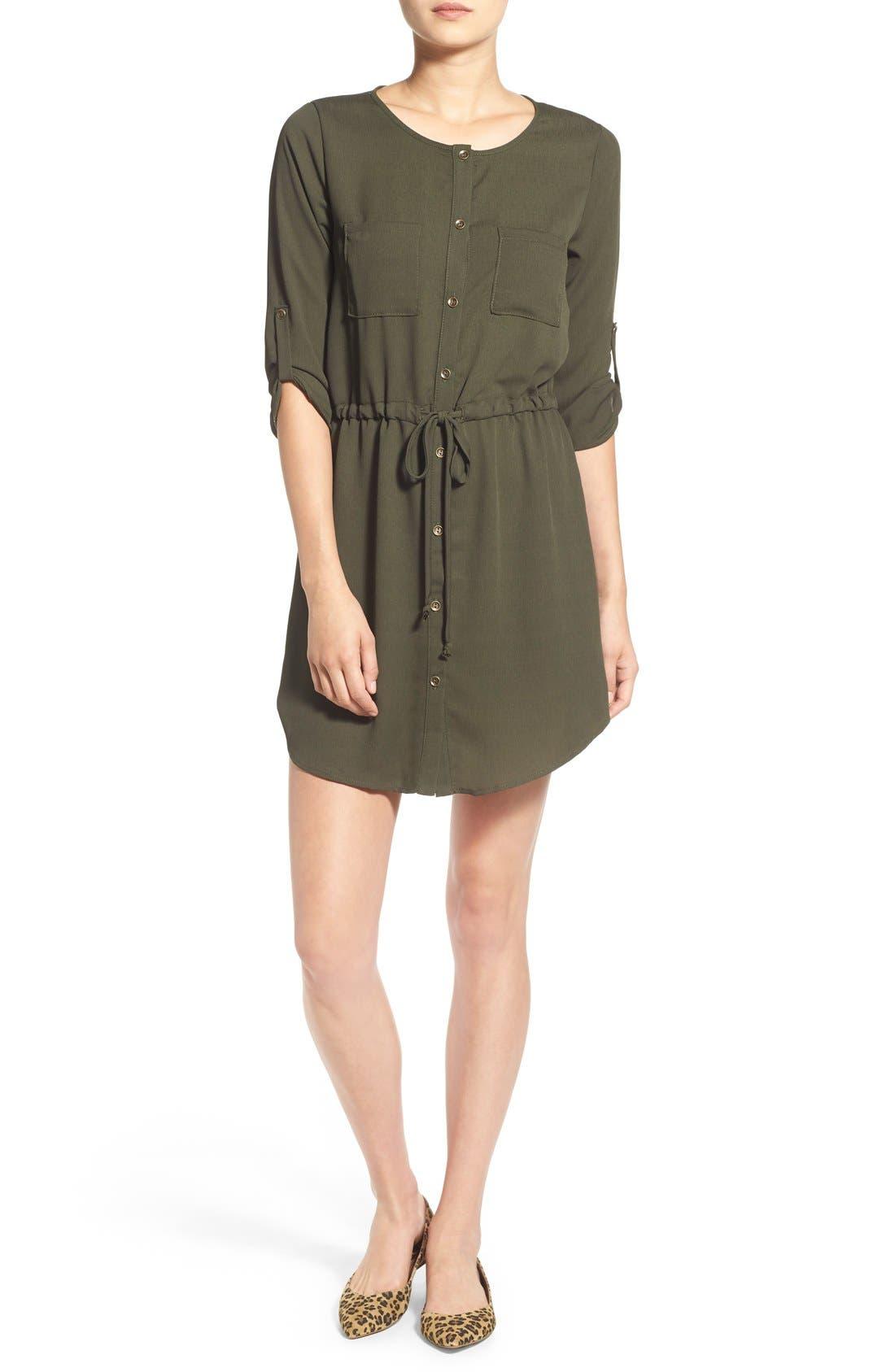 Alternate Image 1 Selected - jella c. Henley Shirtdress
