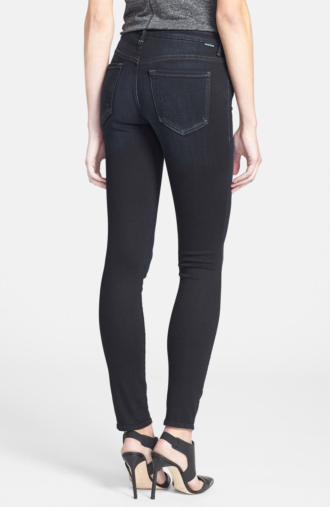 Alternate Image 2  - MOTHER 'The Looker' High Rise Skinny Jeans (Coffee Tea Or Me)