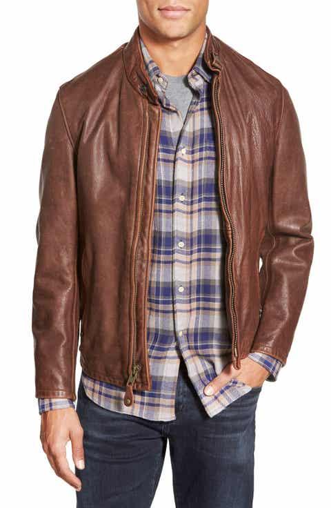 Schott NYC Café Racer Leather Jacket