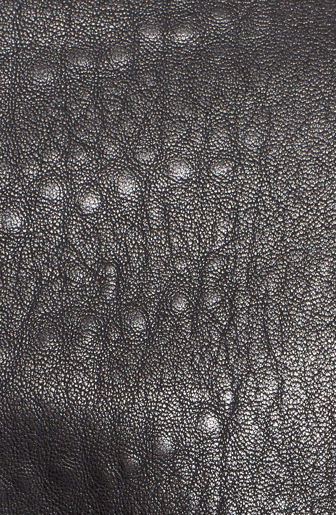Alternate Image 5  - Current/Elliott 'The Long Moto' Lambskin Leather Moto Trench Coat
