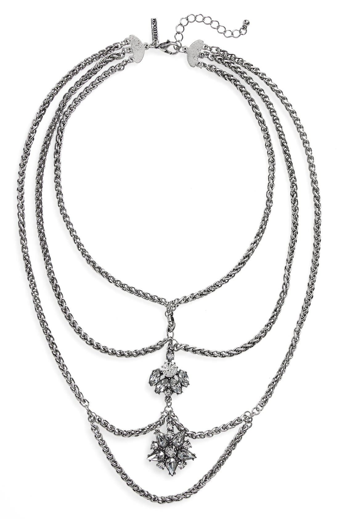 Alternate Image 1 Selected - Topshop Multi Row Chain Necklace