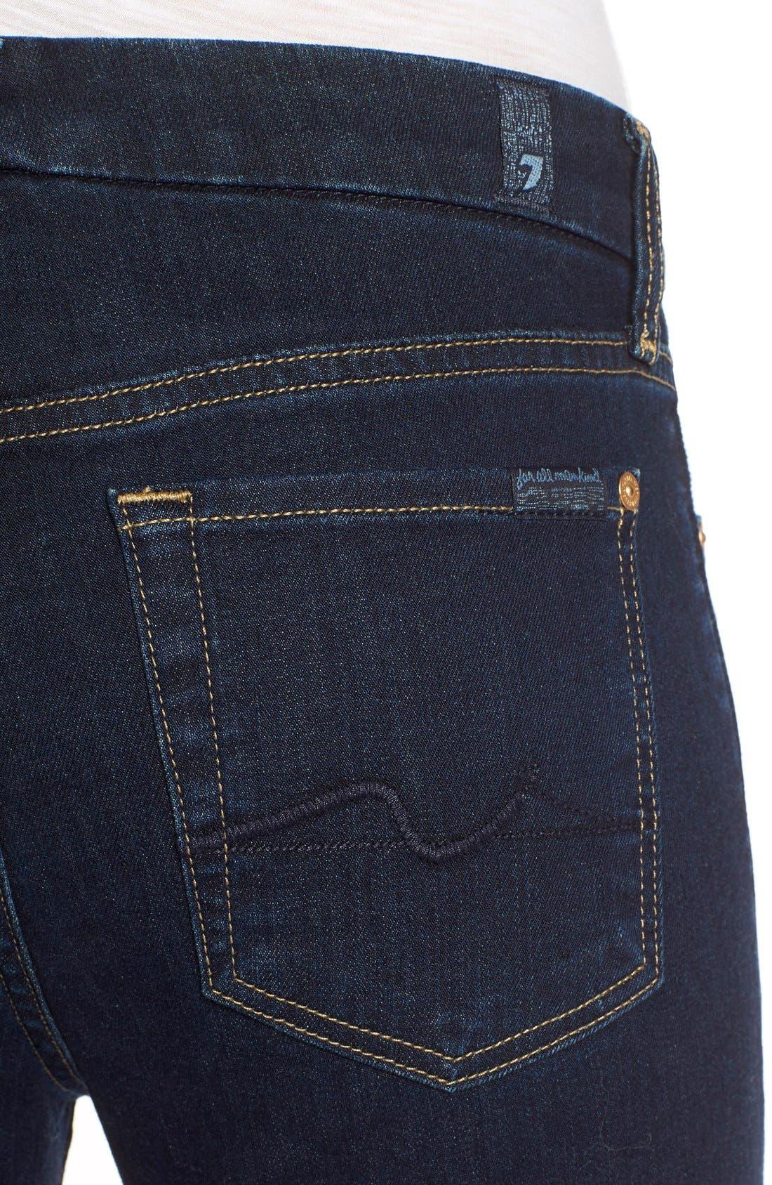 Alternate Image 4  - 7 For All Mankind® 'Kimmie' Straight Leg Jeans (Dark Dusk Indigo)