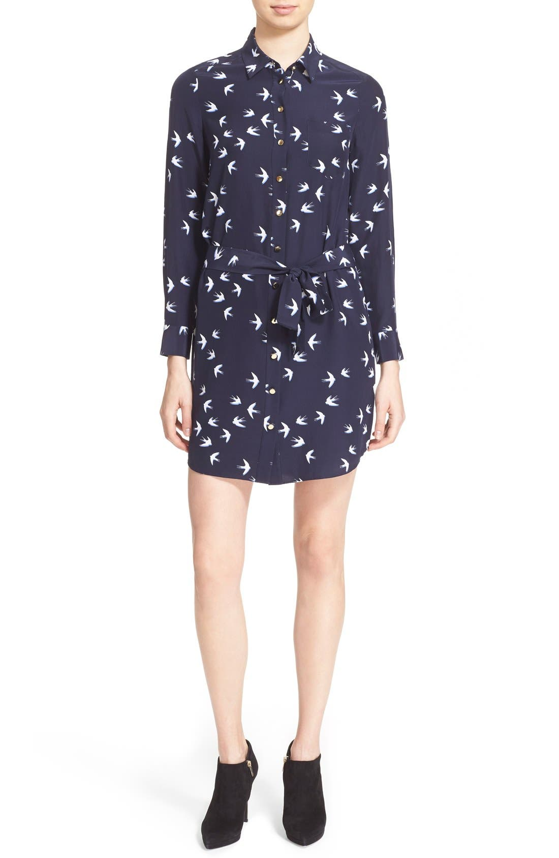 Alternate Image 1 Selected - kate spade new york 'winter' print shirtdress