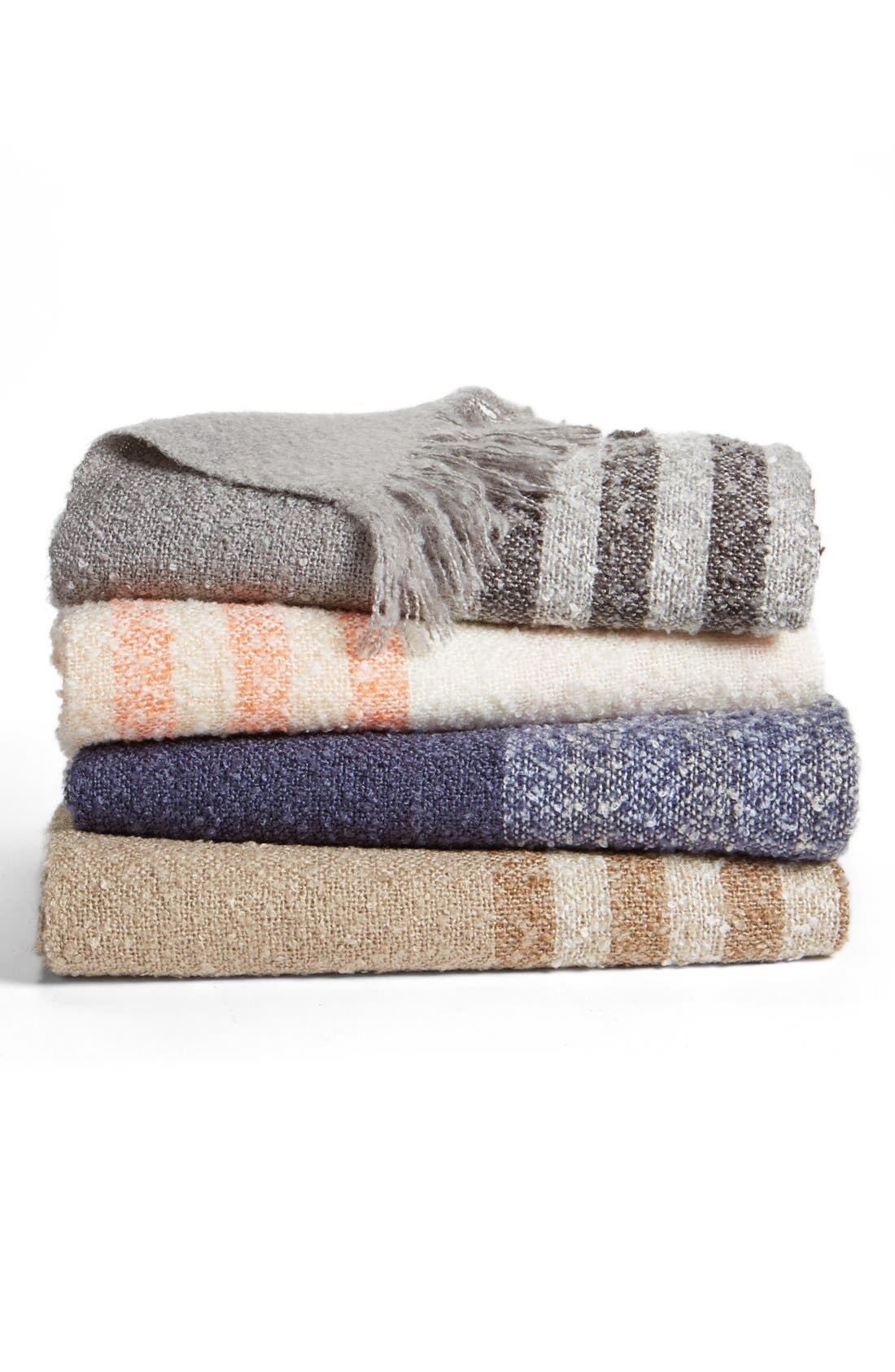 Alternate Image 2  - Nordstrom at Home Stripe Knit Throw