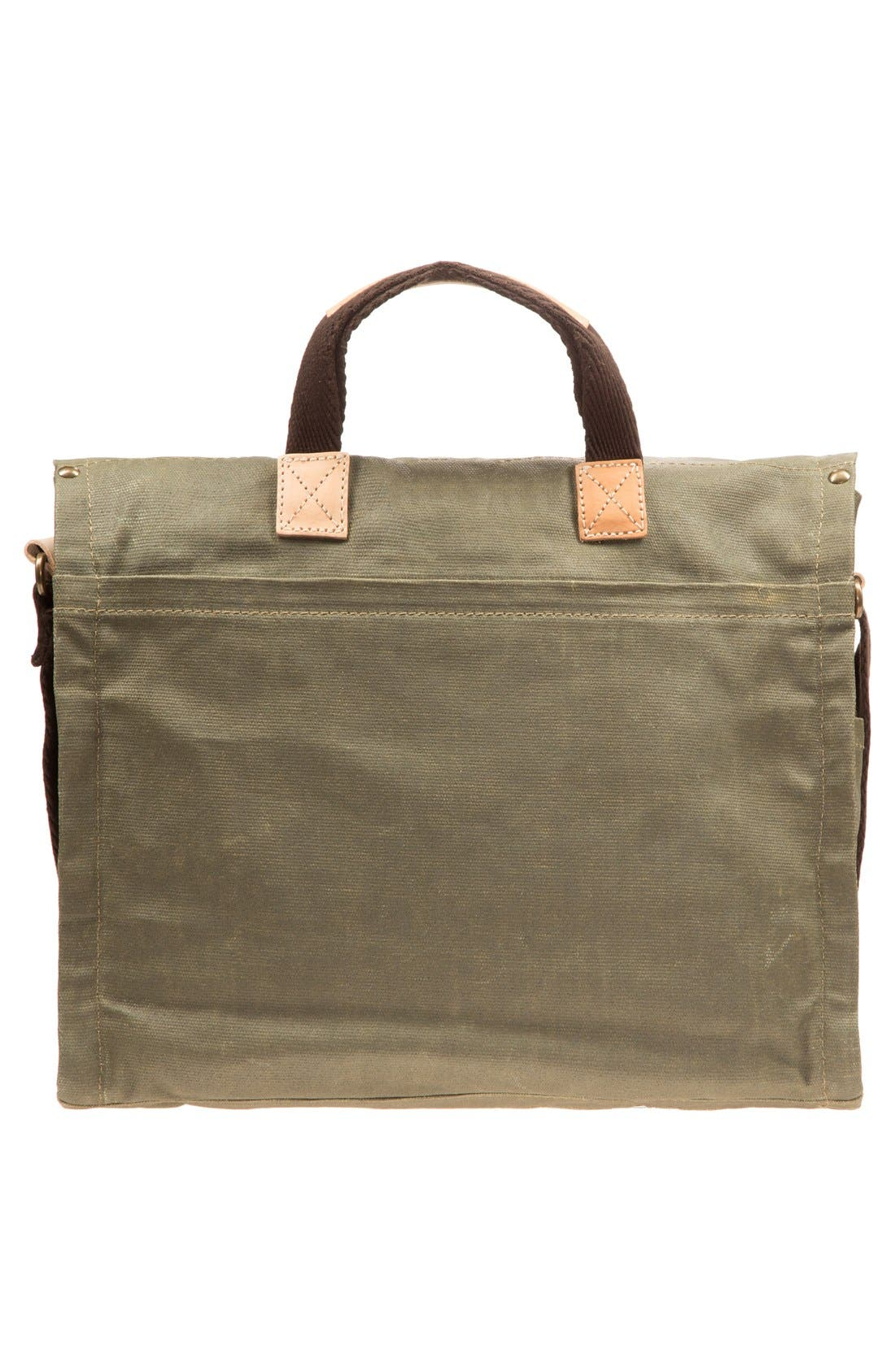 Alternate Image 3  - Will Leather Goods Waxed Canvas Messenger Bag