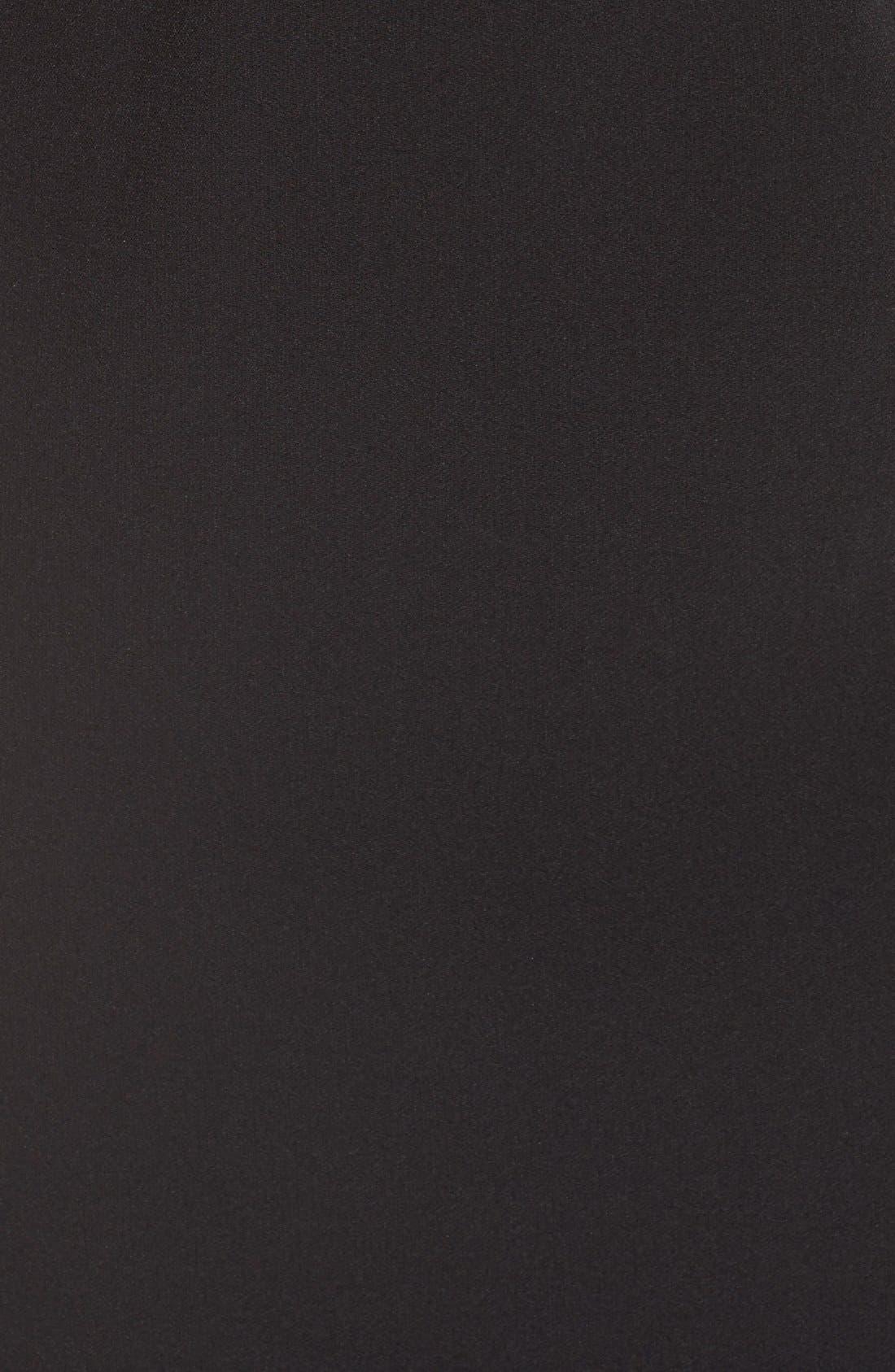 Alternate Image 5  - Adrianna Papell Knot Shoulder Crepe Sheath Dress (Regular & Petite)