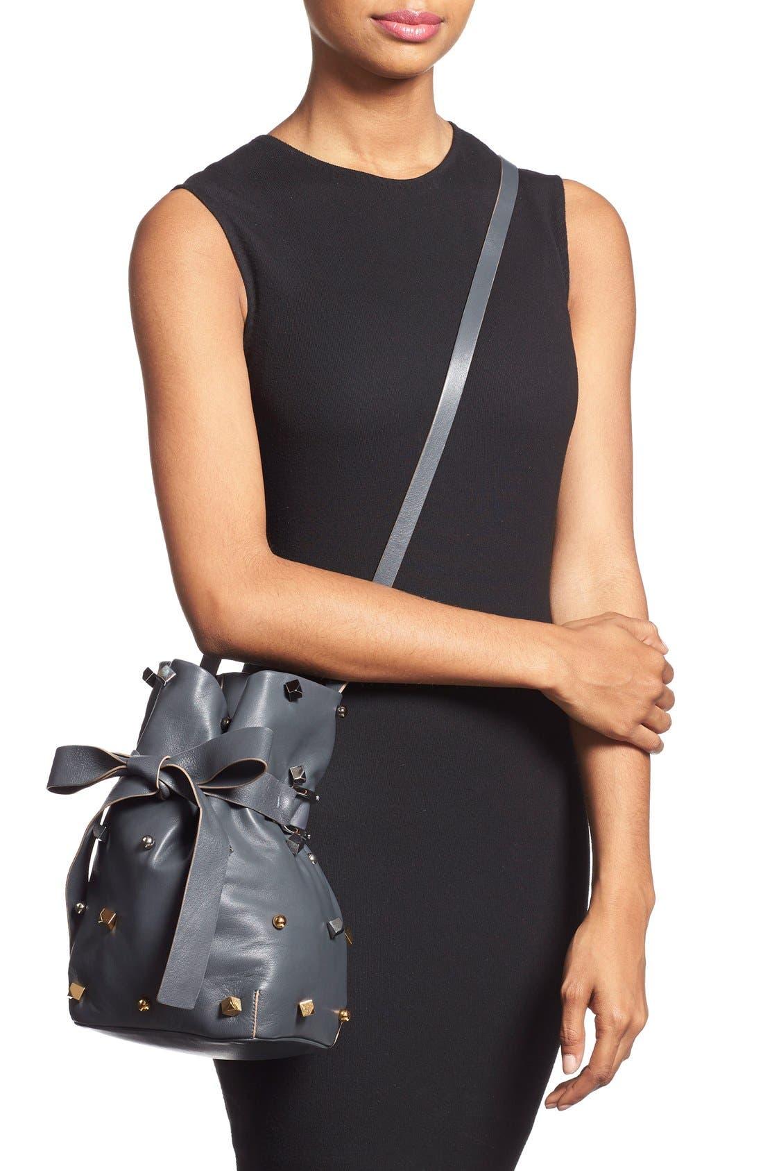 Alternate Image 2  - Jimmy Choo 'Eve' Studded Bucket Bag