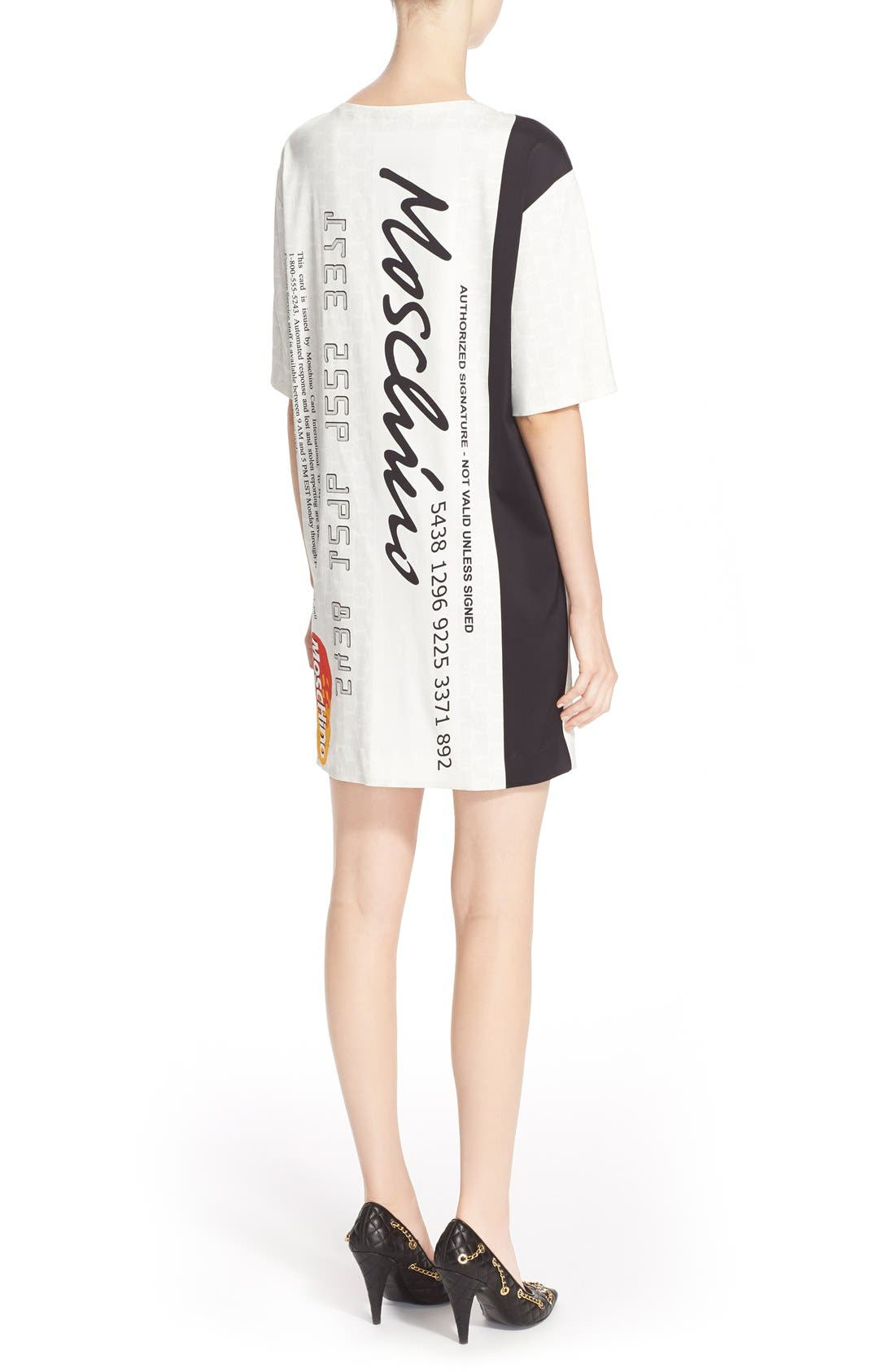 Alternate Image 2  - Moschino Credit Card Print Satin Dress