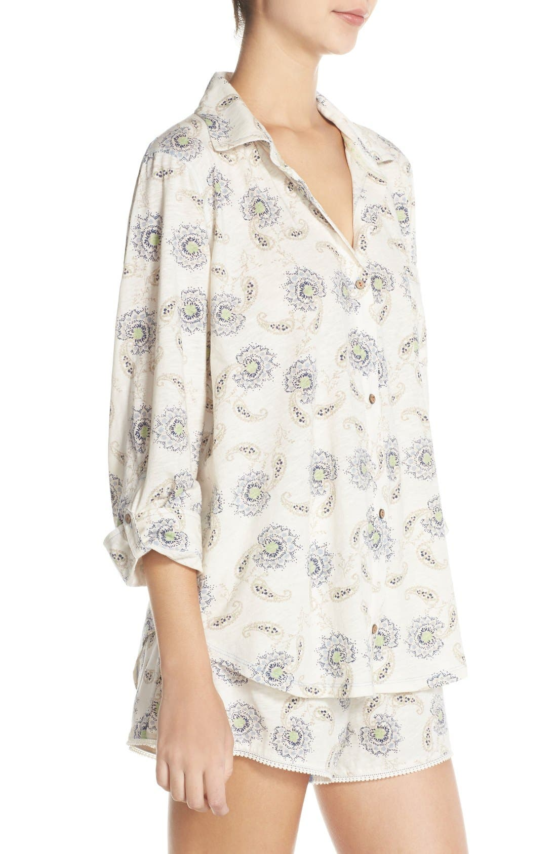 Alternate Image 3  - Lucky Brand Print Cotton Short Pajamas