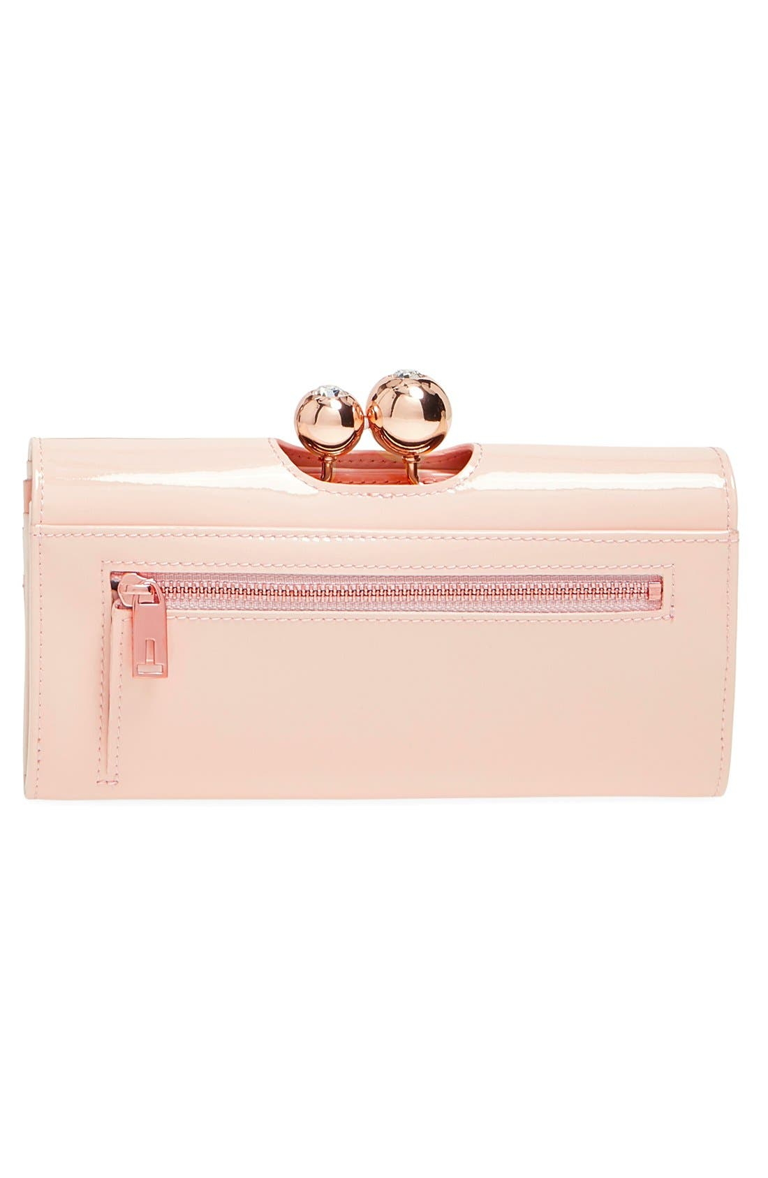 Alternate Image 3  - Ted Baker London Pearlized Patent Leather Matinee Wallet