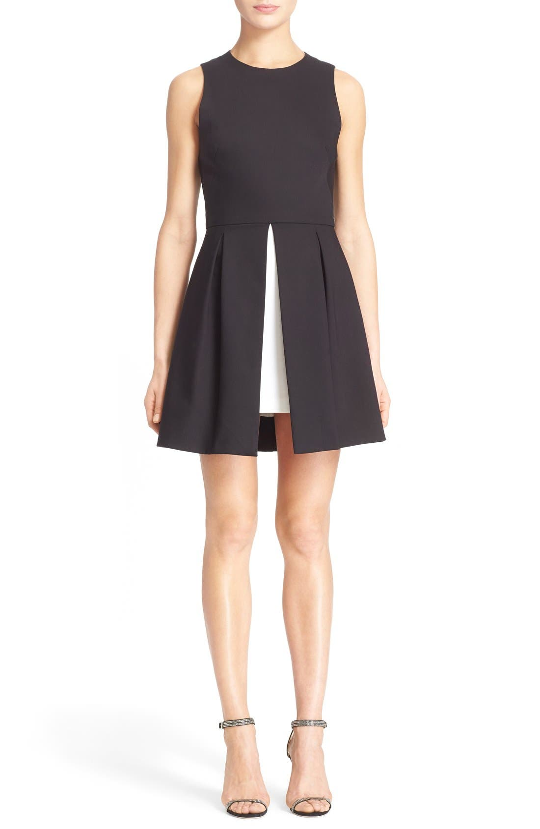Main Image - Alice + Olivia 'Bria' Peplum Fit & Flare Dress