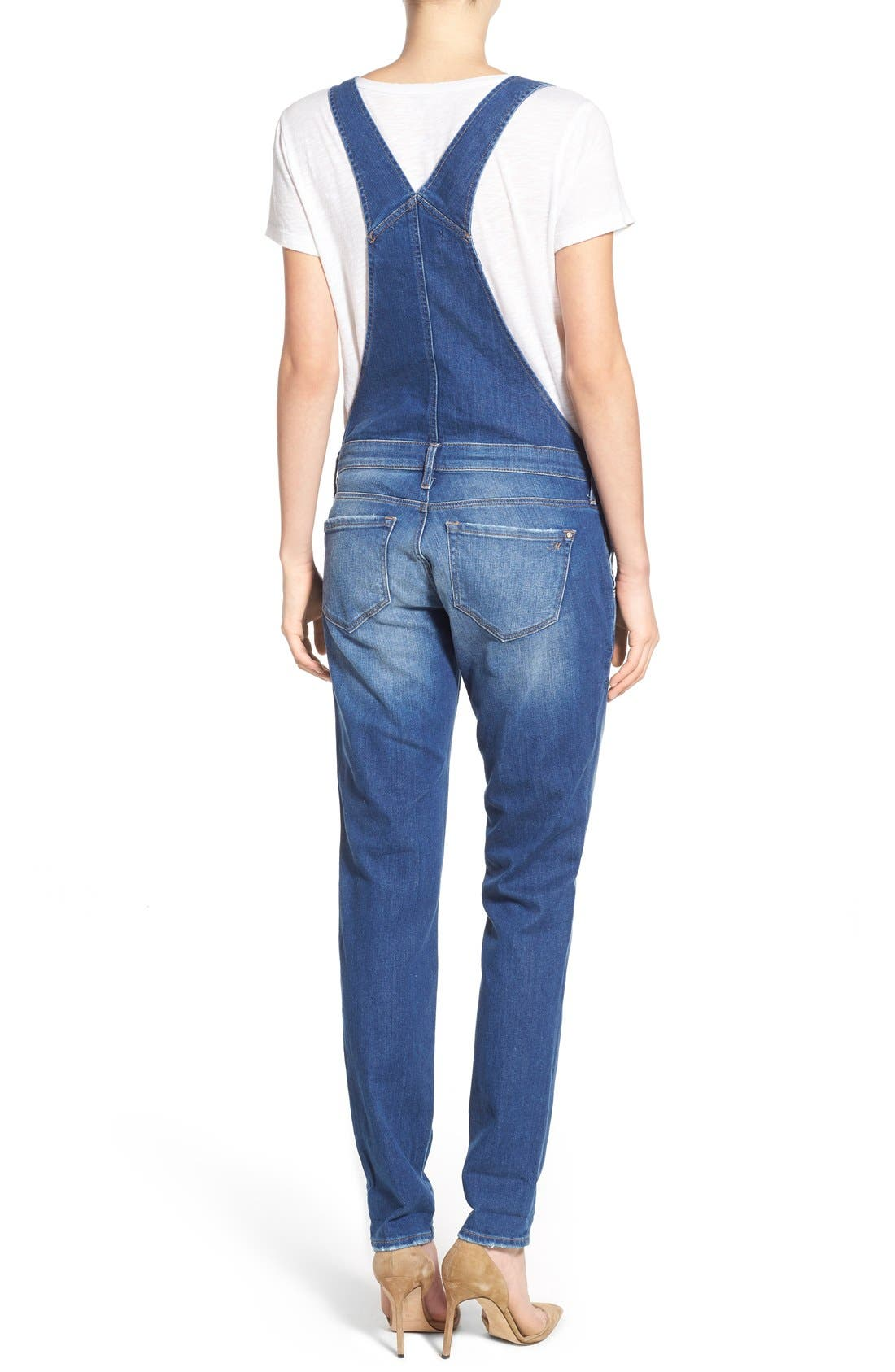 Alternate Image 2  - Mavi Jeans 'Edera' Ripped Overalls (Patch Ripped)