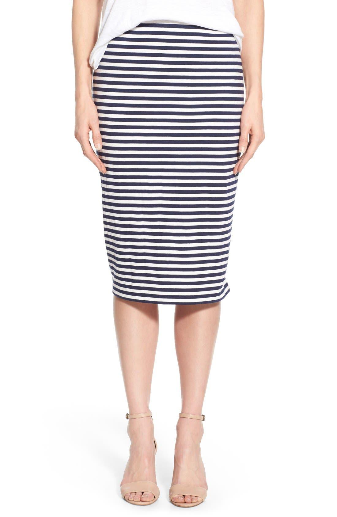 Main Image - Caslon® Zip Detail Tube Skirt
