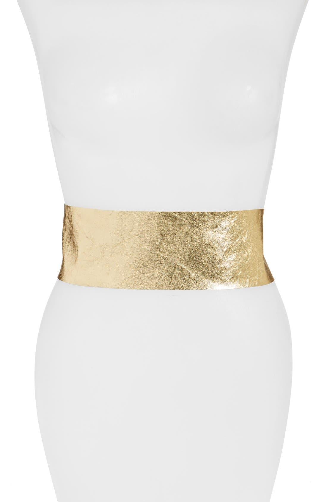 Main Image - Raina Leather Wrap Belt