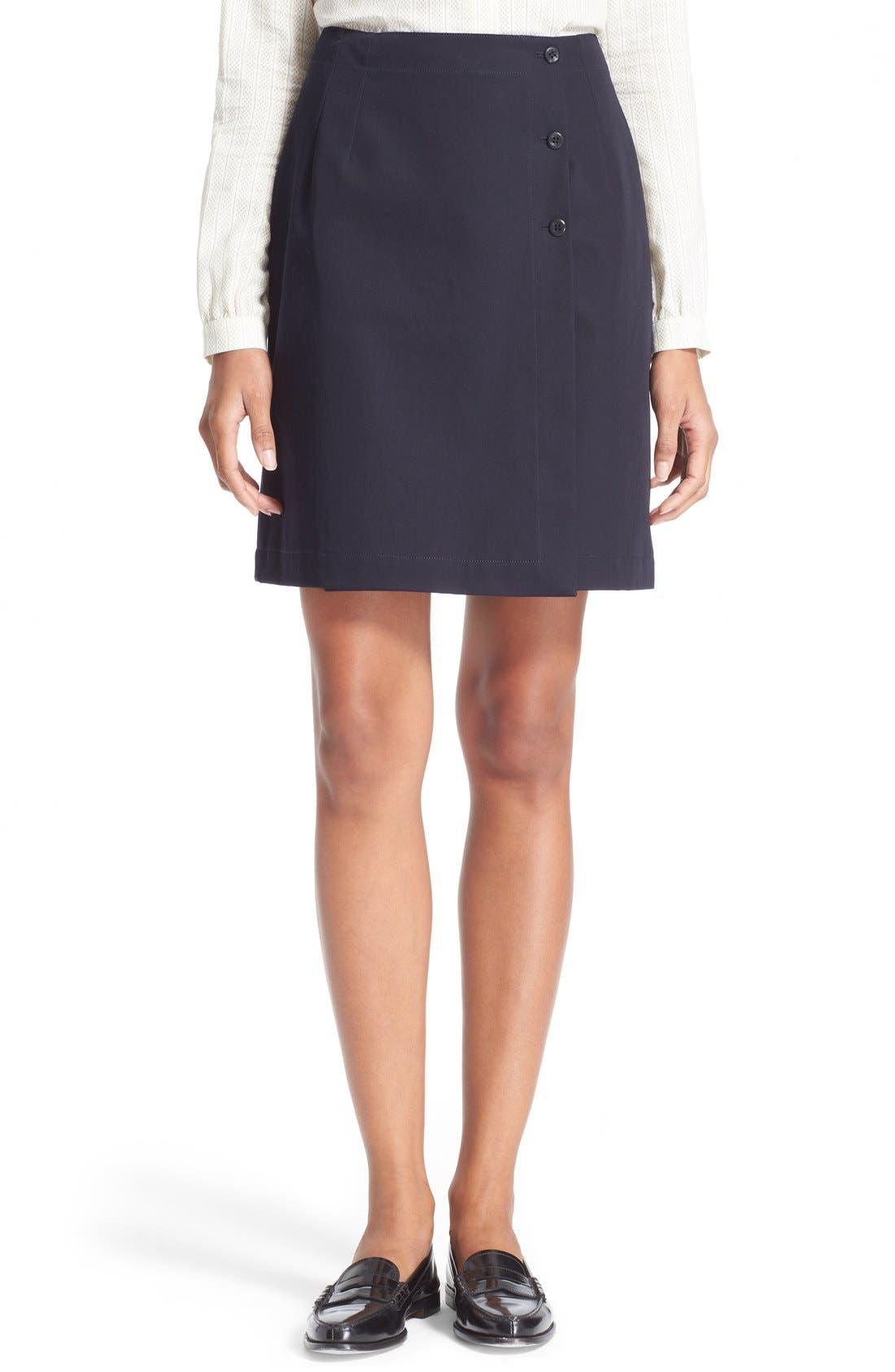 Main Image - A.P.C. 'Lana' Cotton Skirt