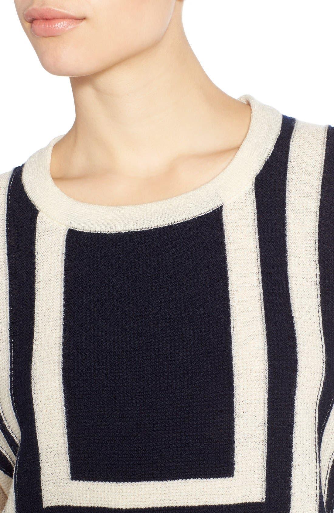Alternate Image 4  - M.i.h. Jeans 'Bib Breton' Crewneck Sweater