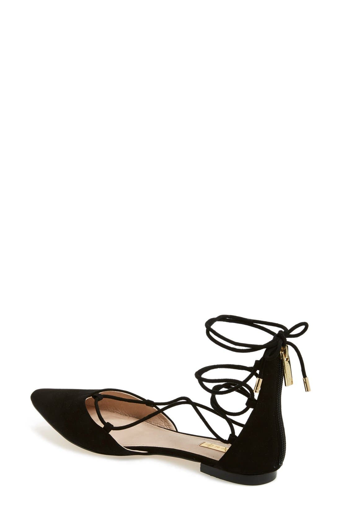 Alternate Image 2  - Louise et Cie 'Abri' Pointy Toe Ghillie Flat (Women)