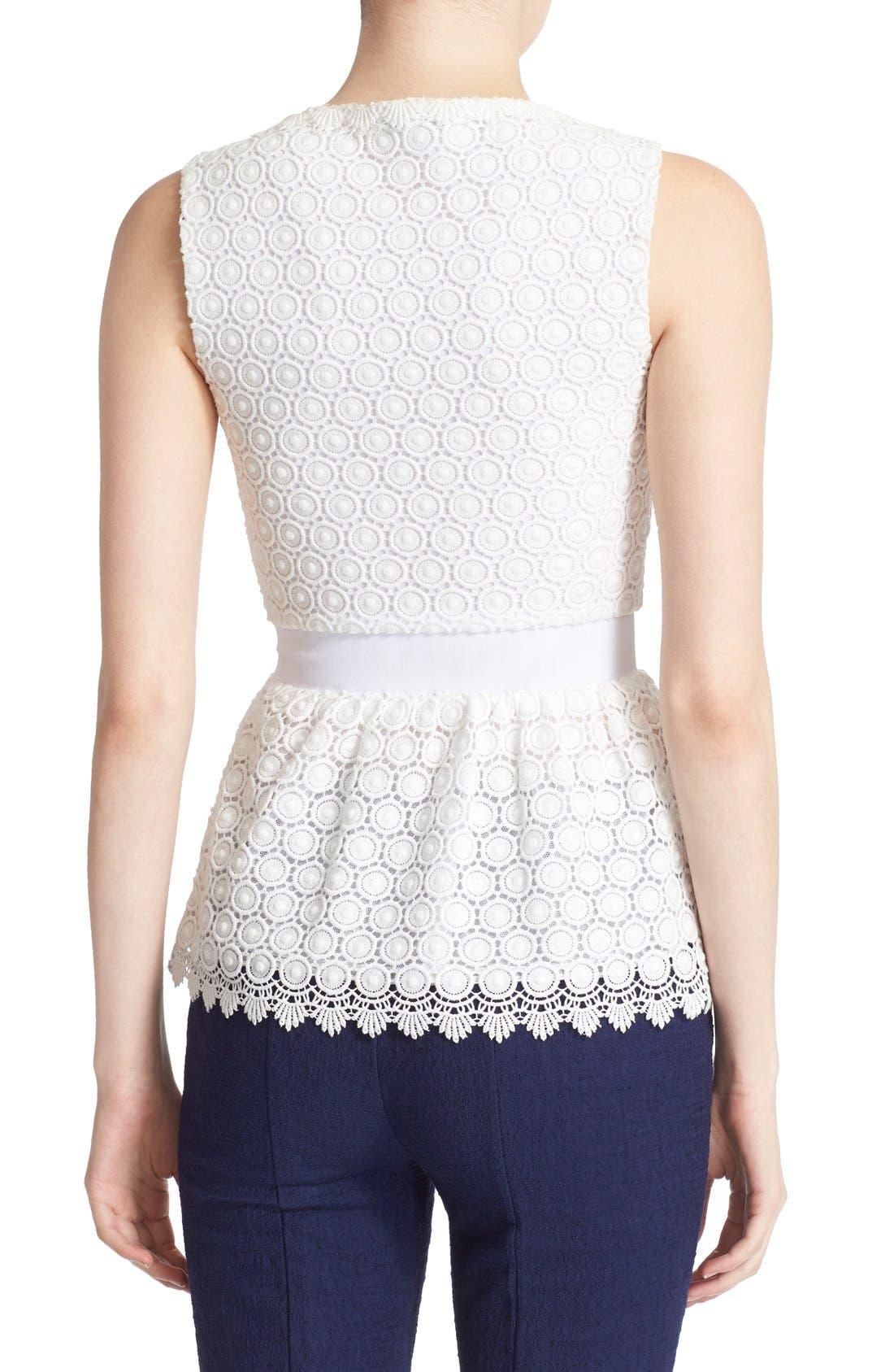 Alternate Image 2  - Diane von Furstenberg 'Tavita' Sleeveless Lace Top