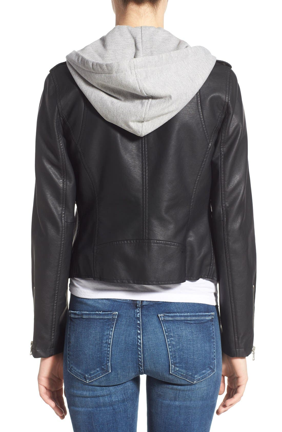Alternate Image 2  - Thread & Supply 'Eclipse' Hooded Faux Leather Jacket