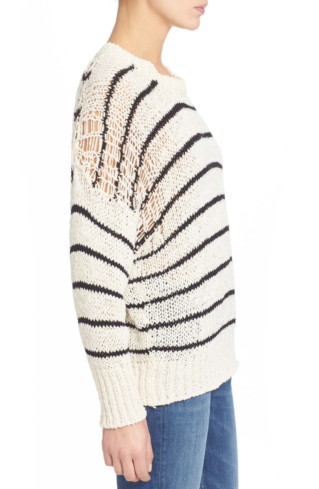 Alternate Image 3  - IRO Stripe Cotton Blend Knit Sweater