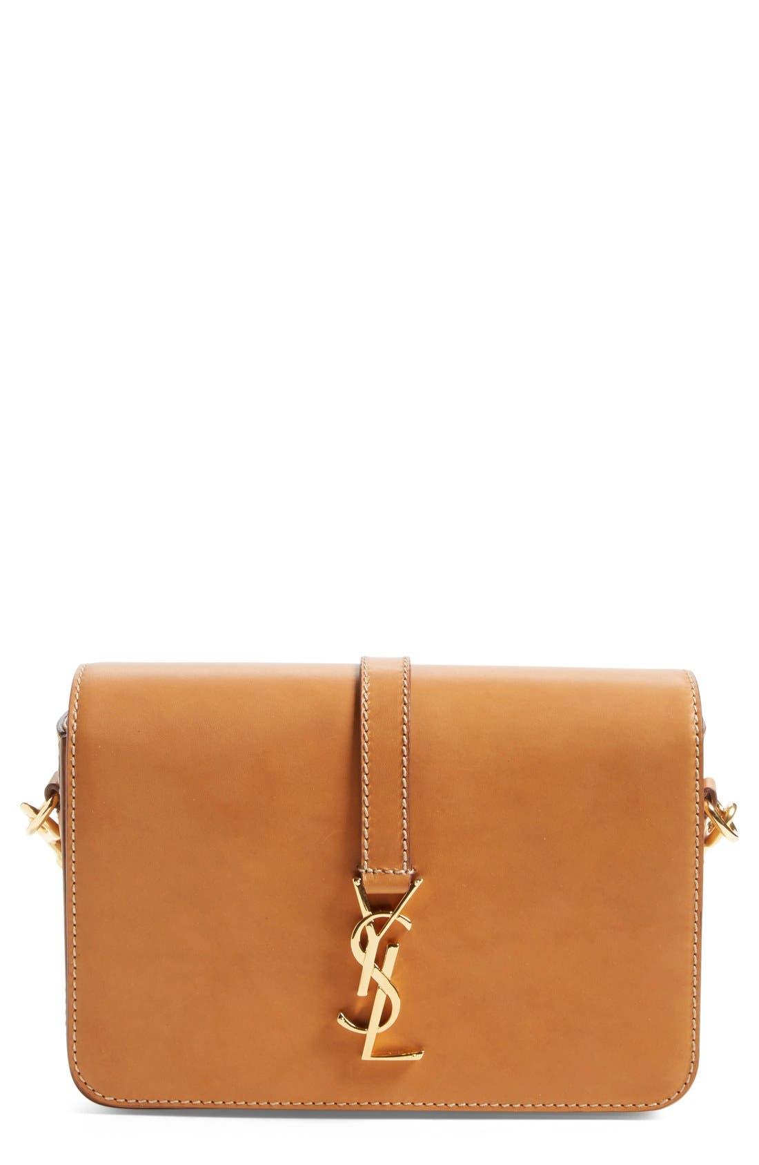 Main Image - Saint Laurent 'Medium Monogram' Leather Crossbody Bag