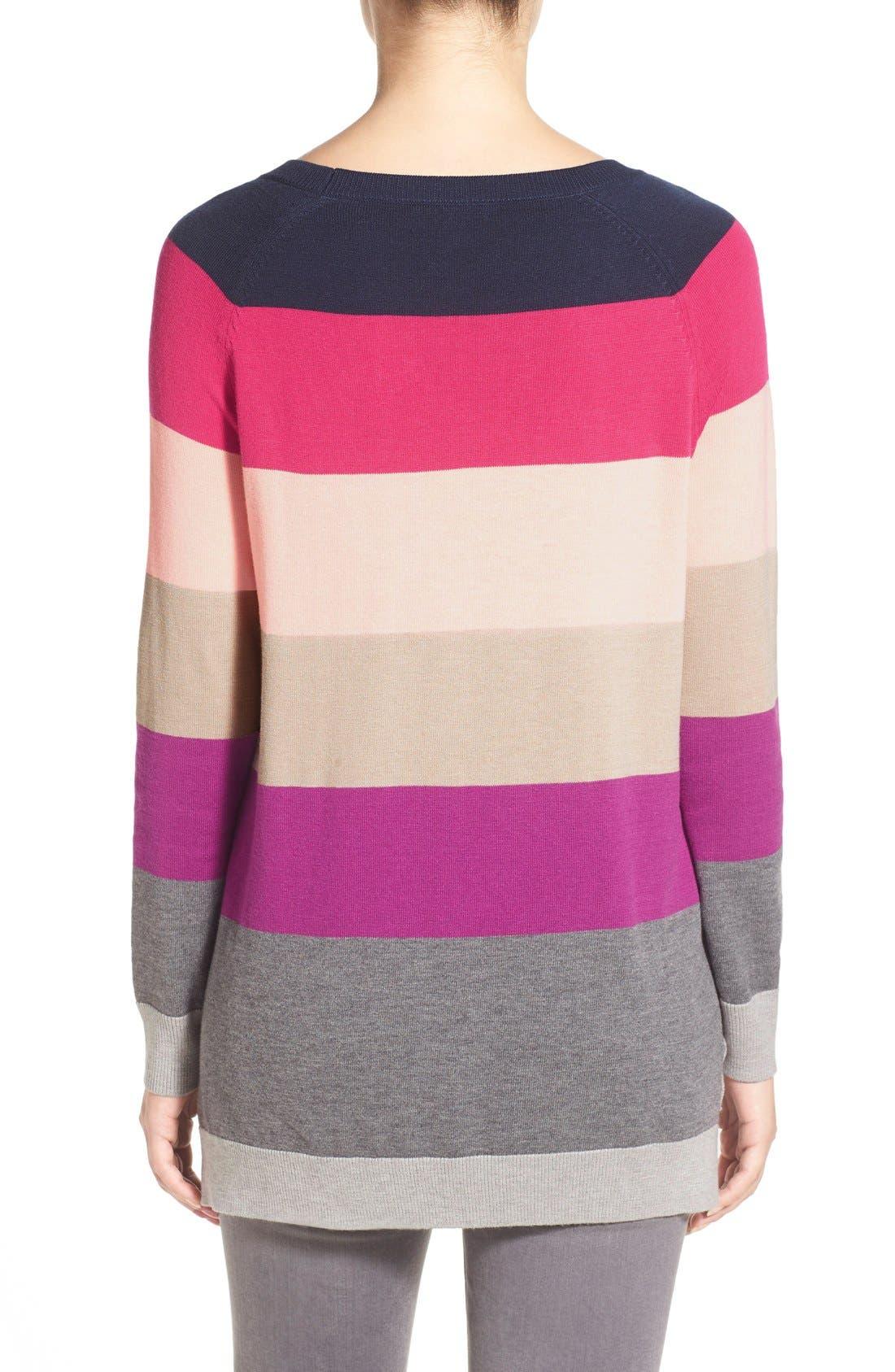 Alternate Image 2  - Caslon® Raglan Crewneck Sweater (Regular & Petite)