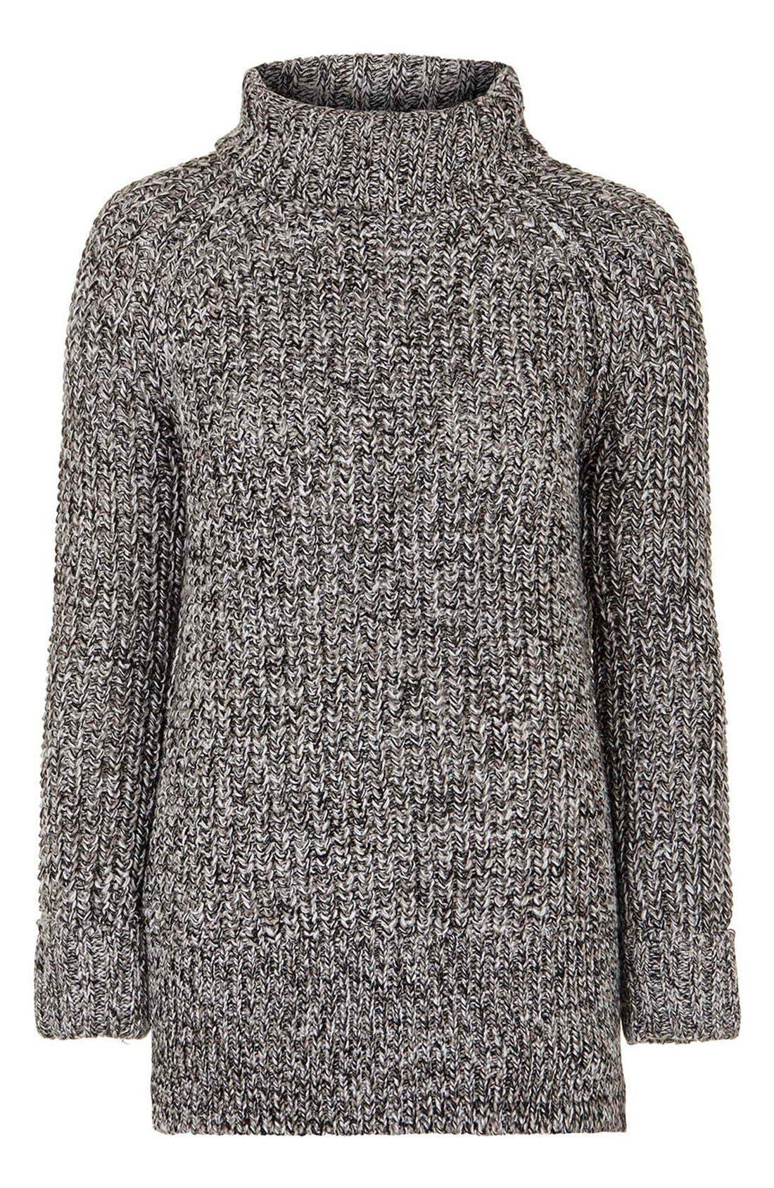 Alternate Image 4  - Topshop Rolled Turtleneck Sweater