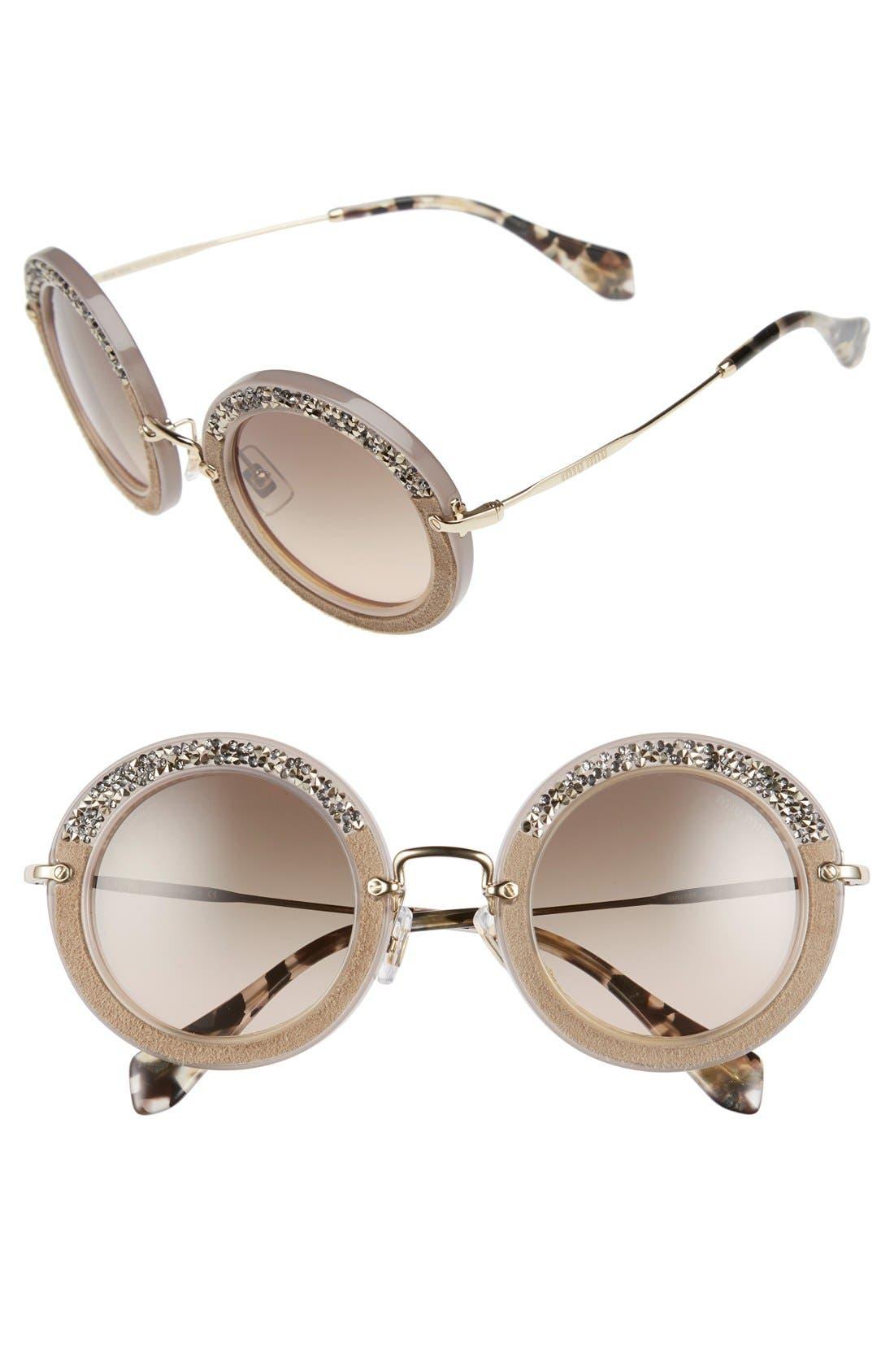 Alternate Image 1 Selected - Miu Miu 49mm Round Sunglasses