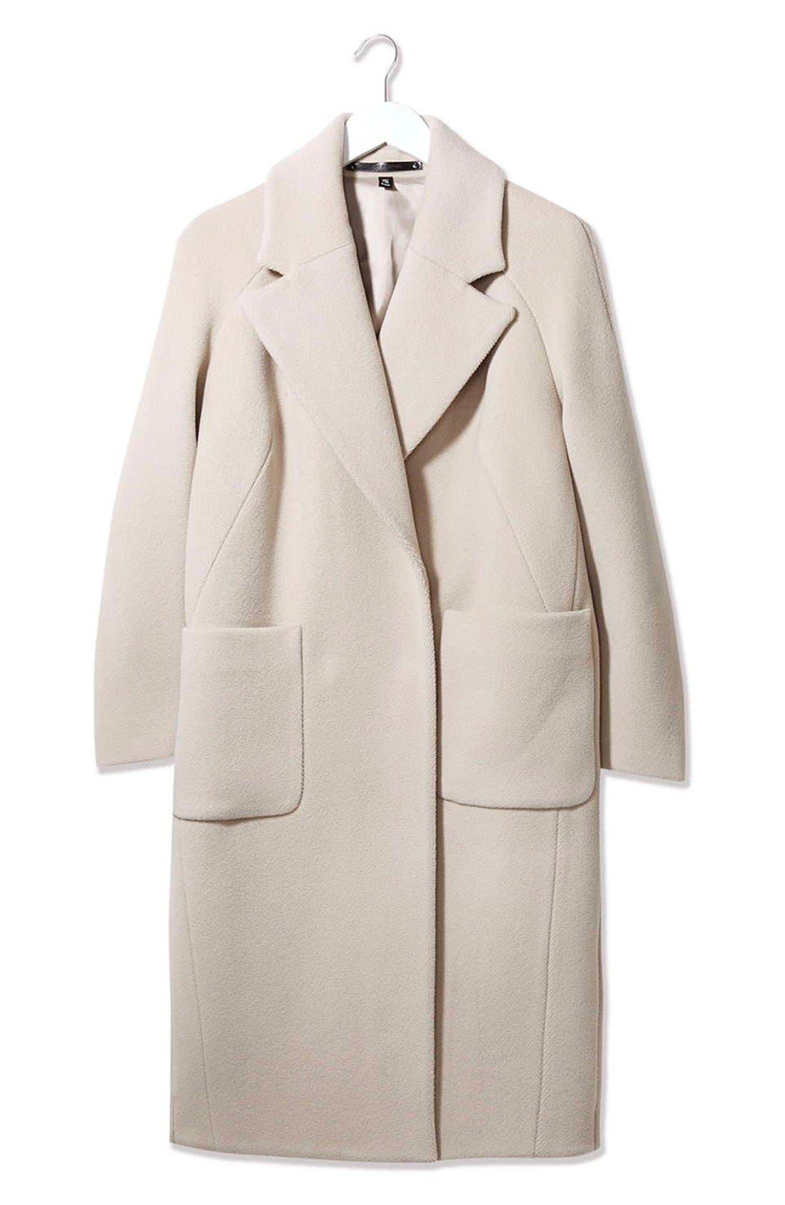 Alternate Image 4  - Topshop Boutique Longline Wool Coat