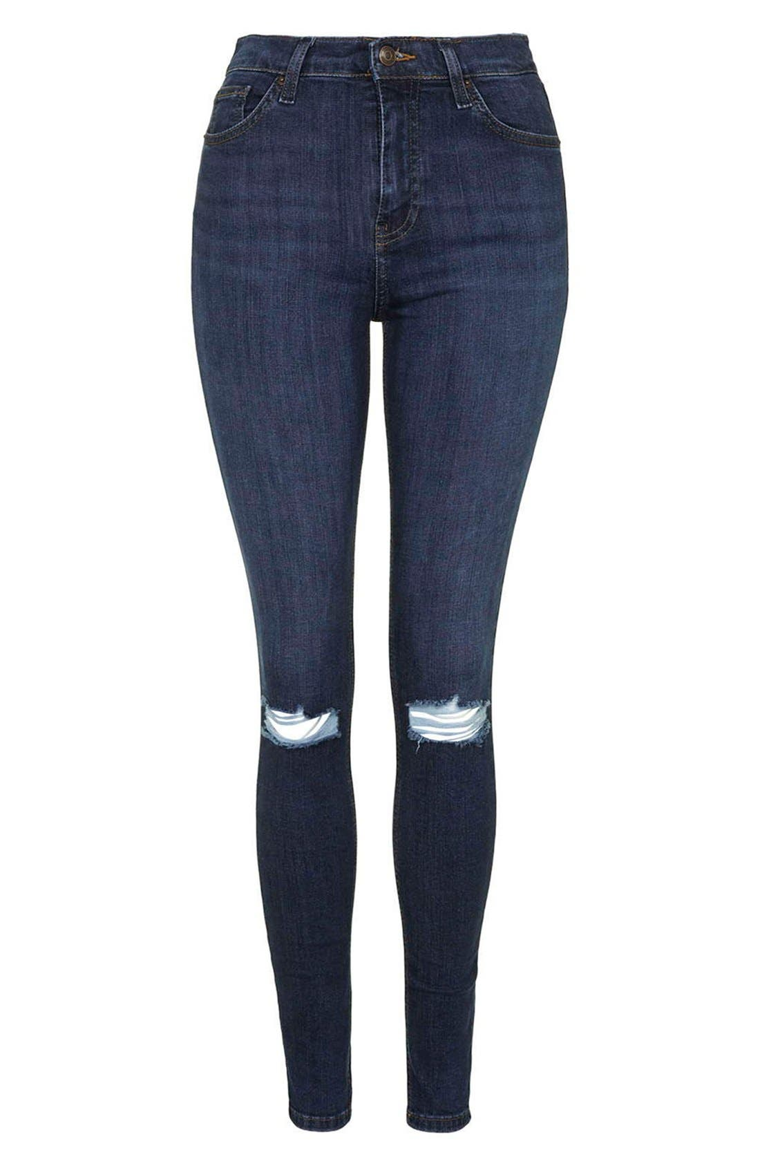 Alternate Image 4  - Topshop Moto 'Jamie' Ripped Skinny Jeans