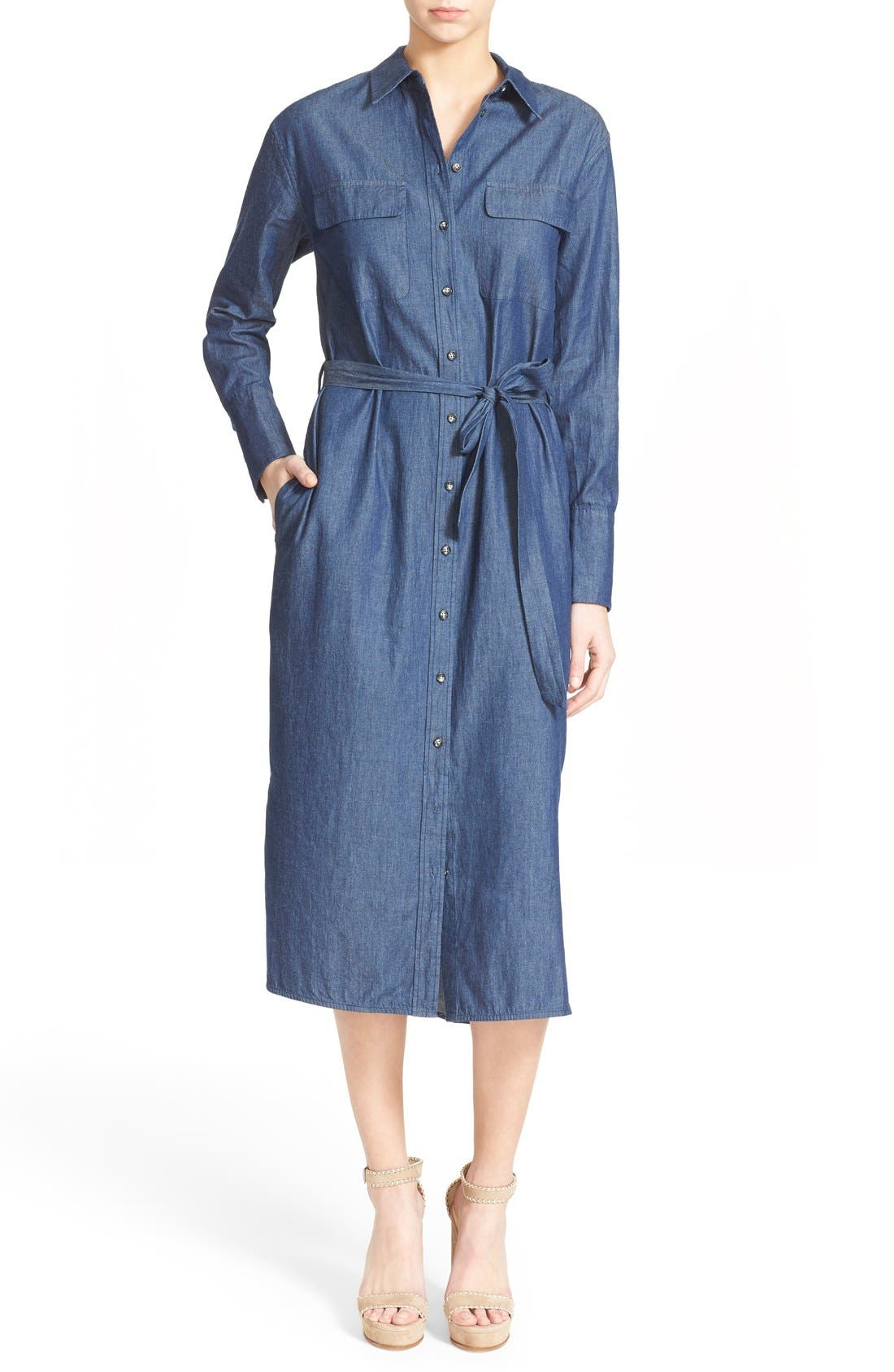 Main Image - Equipment 'Delany' Chambray Cotton Shirtdress