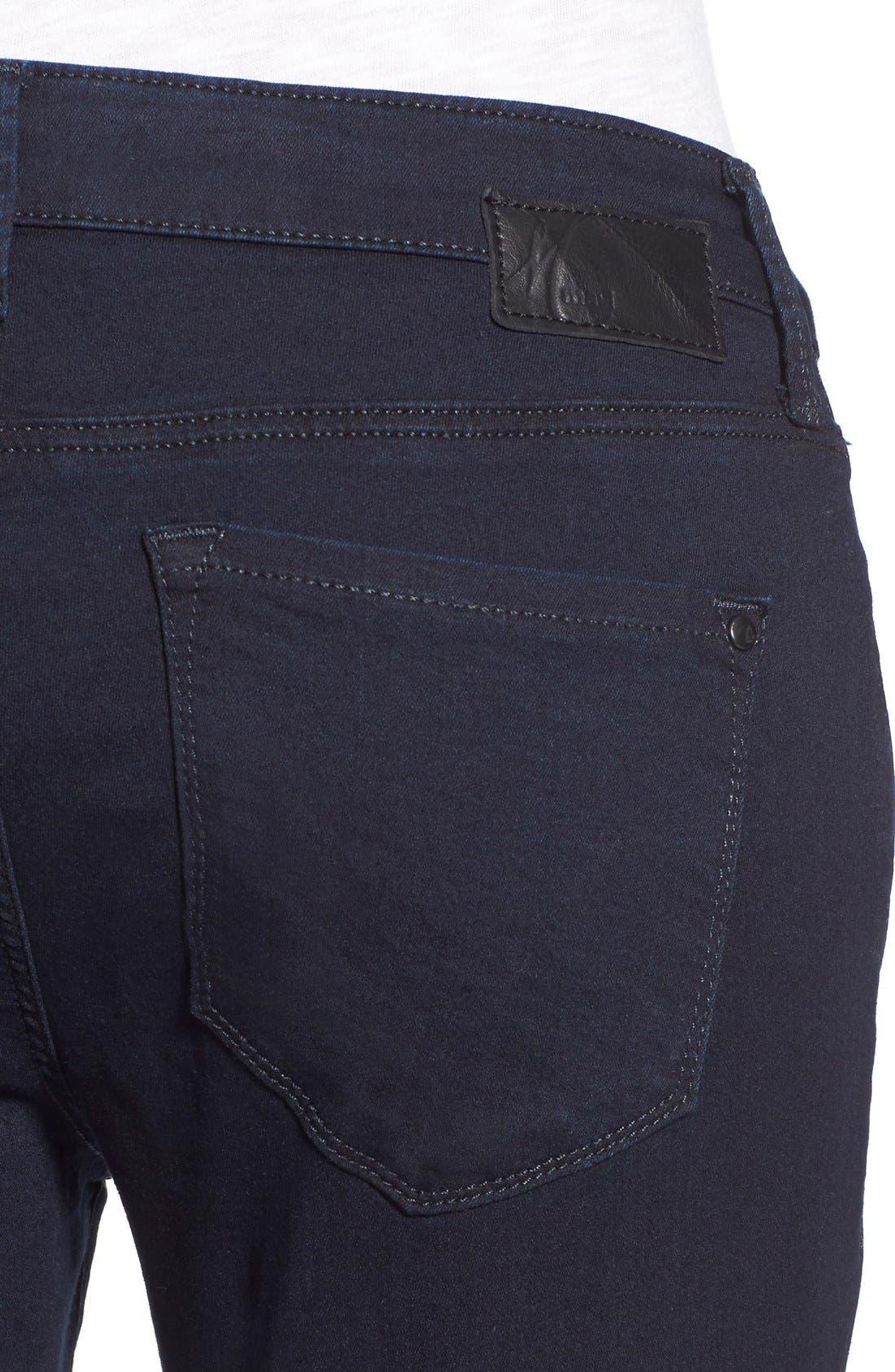 Alternate Image 4  - Mavi Jeans 'Alexa' Stretch Skinny Jeans (Dark Shanti) (Petite)