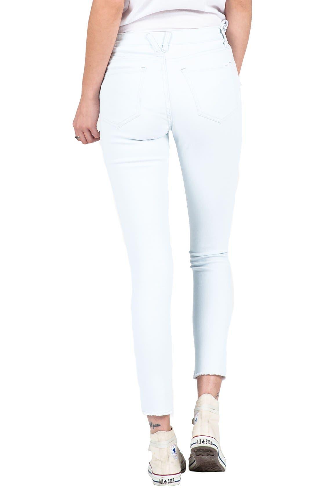 Alternate Image 2  - Volcom Distressed High Waist Ankle Skinny Jeans