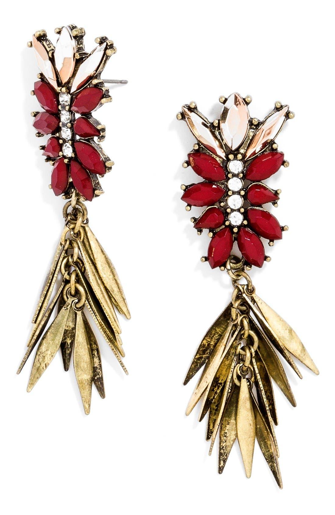 Main Image - BaubleBar 'Fringe Fir' Drop Earrings