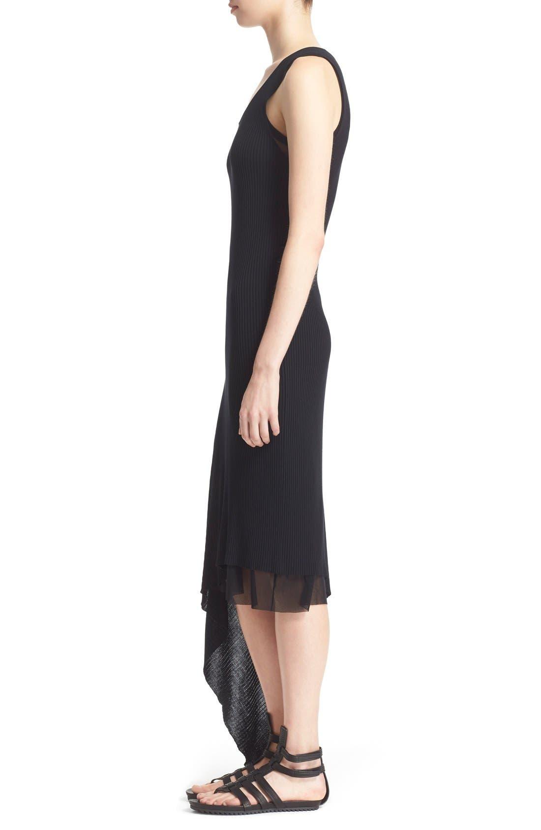 Alternate Image 5  - Fuzzi Asymmetrical Rib Knit Tank Dress