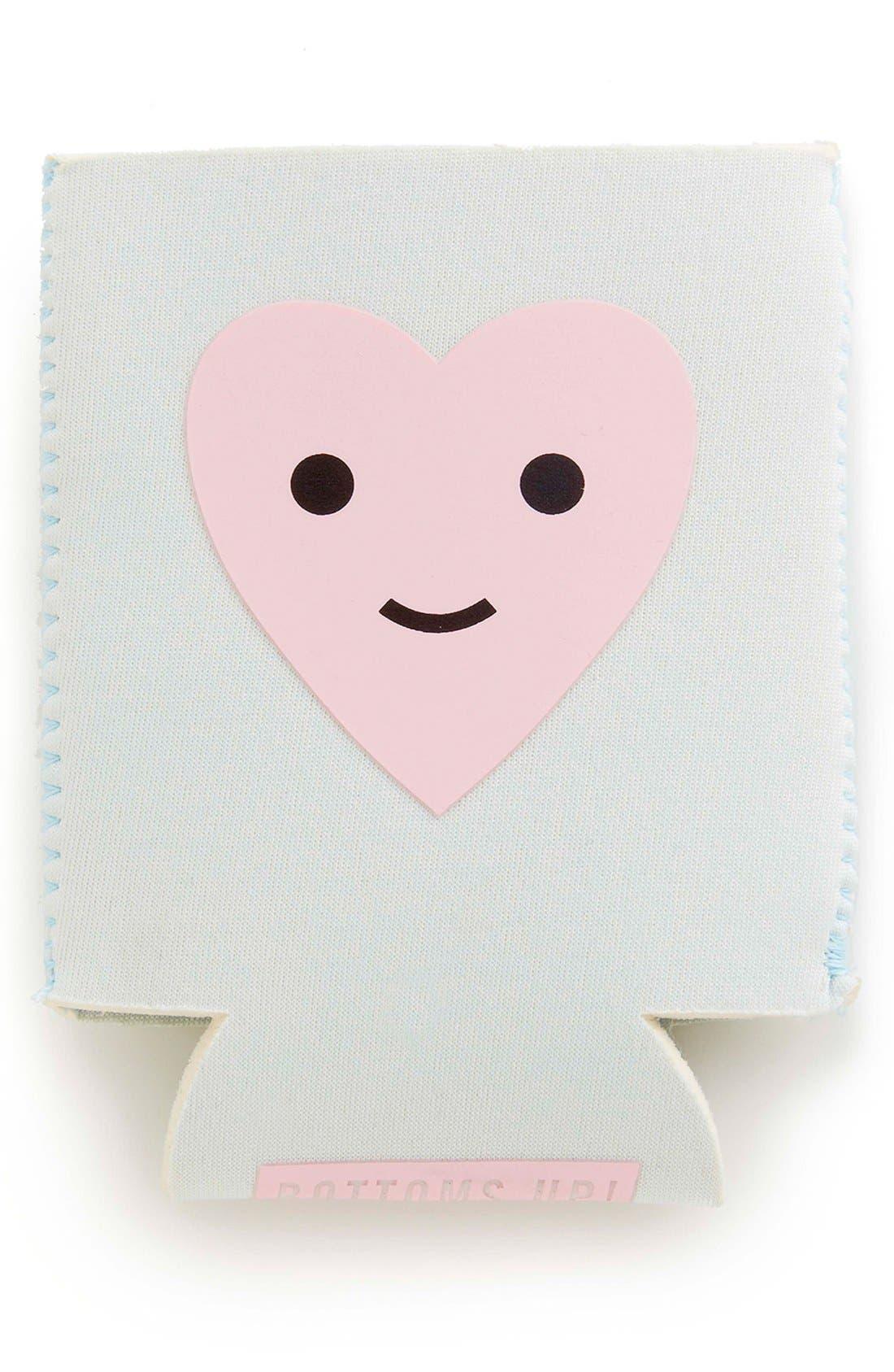 Main Image - ban.do 'Happy Heart' Neoprene Drink Sleeve