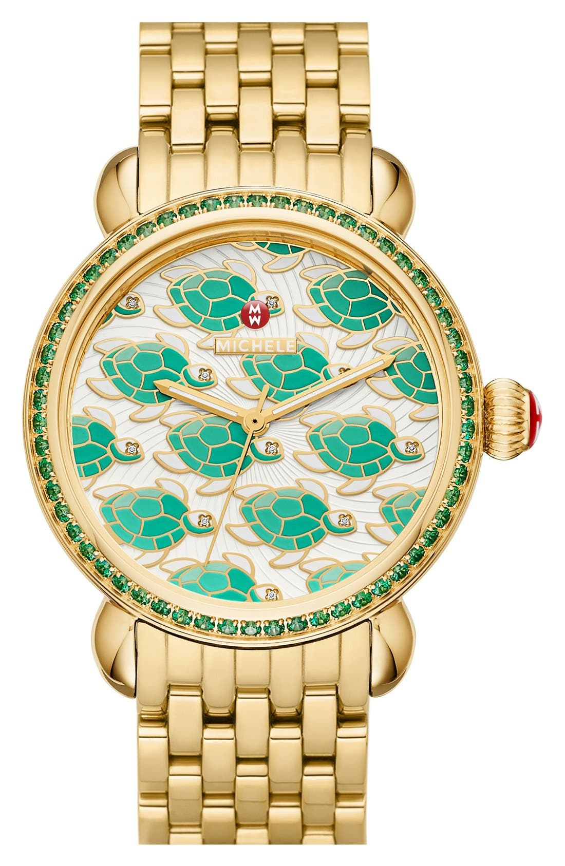 Alternate Image 3  - MICHELE 'Exotic Creatures' Bracelet Watch Case, 36mm