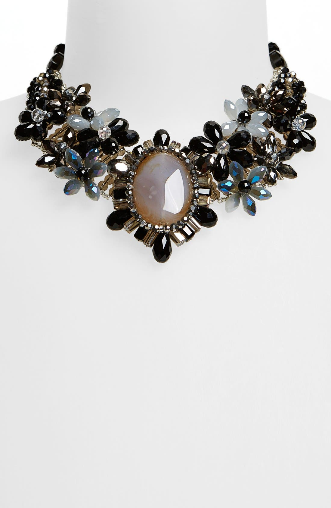 Alternate Image 2  - Nakamol Design 'Crystal Stone Flower' Collar Necklace