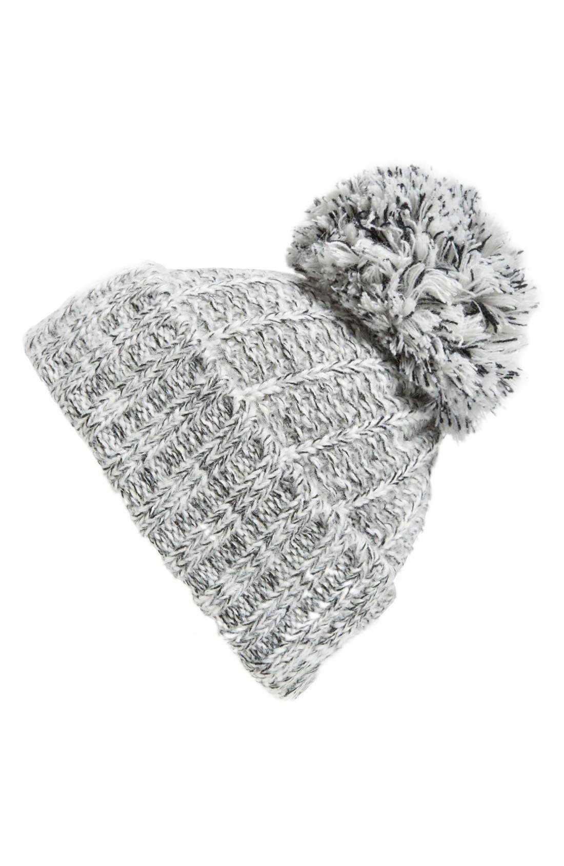 Main Image - Evelyn K Knit Hat with Pom
