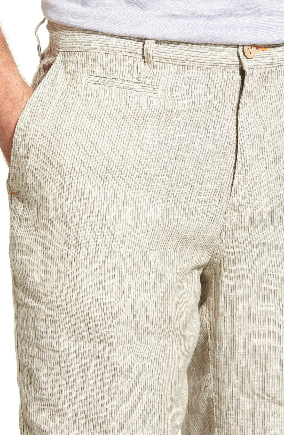 Alternate Image 4  - Tommy Bahama 'Line of the Times' Relaxed Fit Striped Linen Shorts