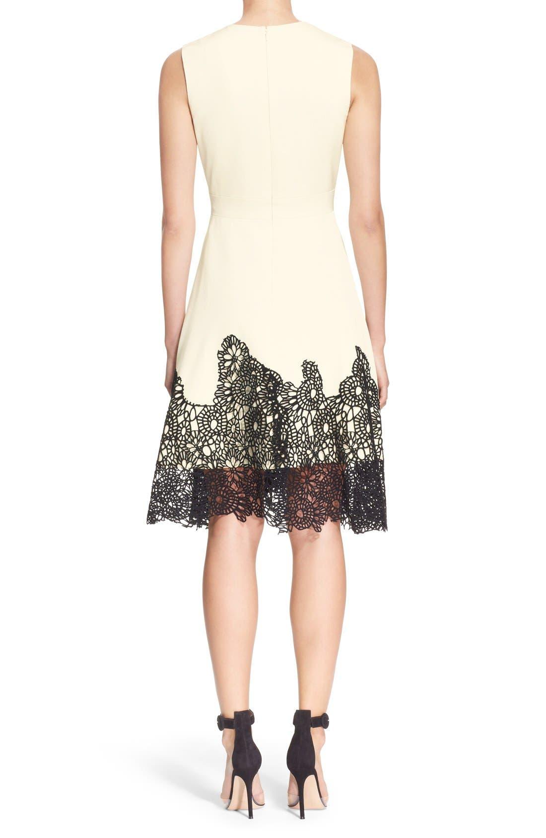Alternate Image 2  - Lela Rose Guipure Lace Hem Dress